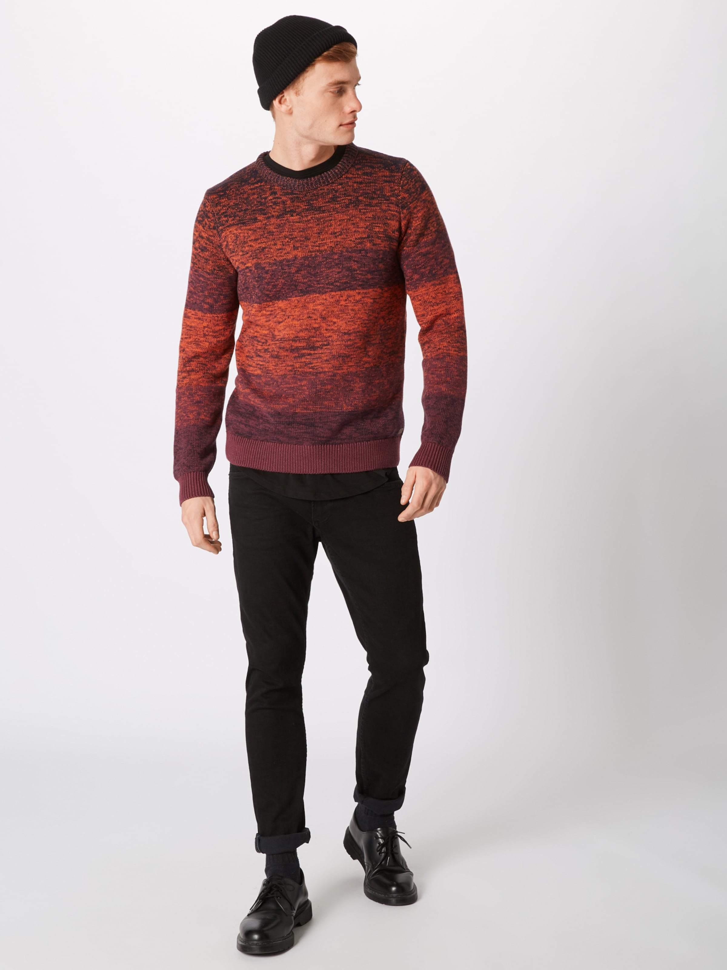 Pull Tailor OrangeRouge En Tom Carmin over 3ARjLS54qc