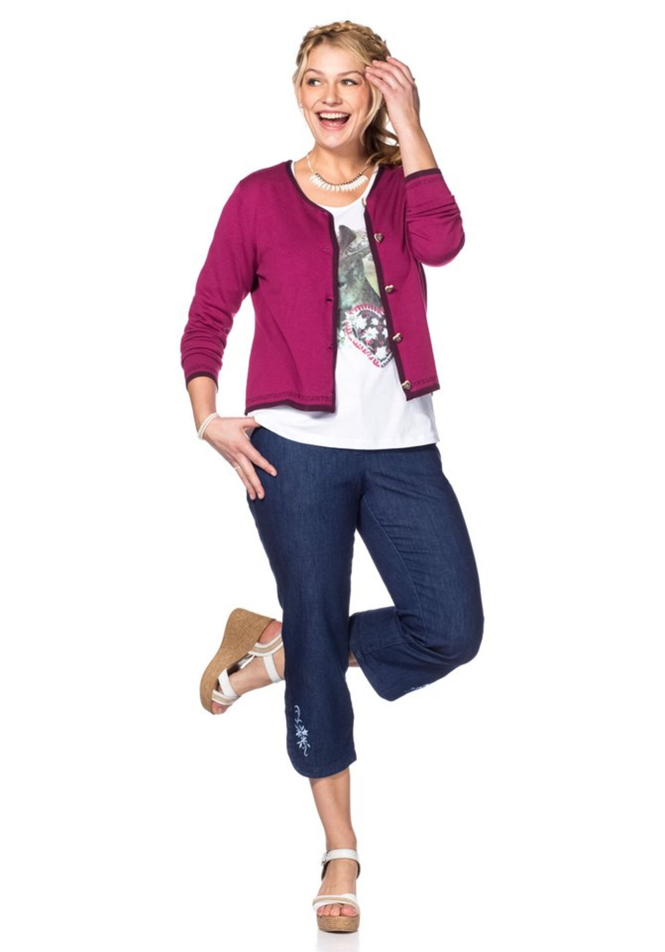 In Style Sheego Strickjacke Strickjacke Sheego BeereFuchsia Sheego BeereFuchsia Style In 5j34AqRL