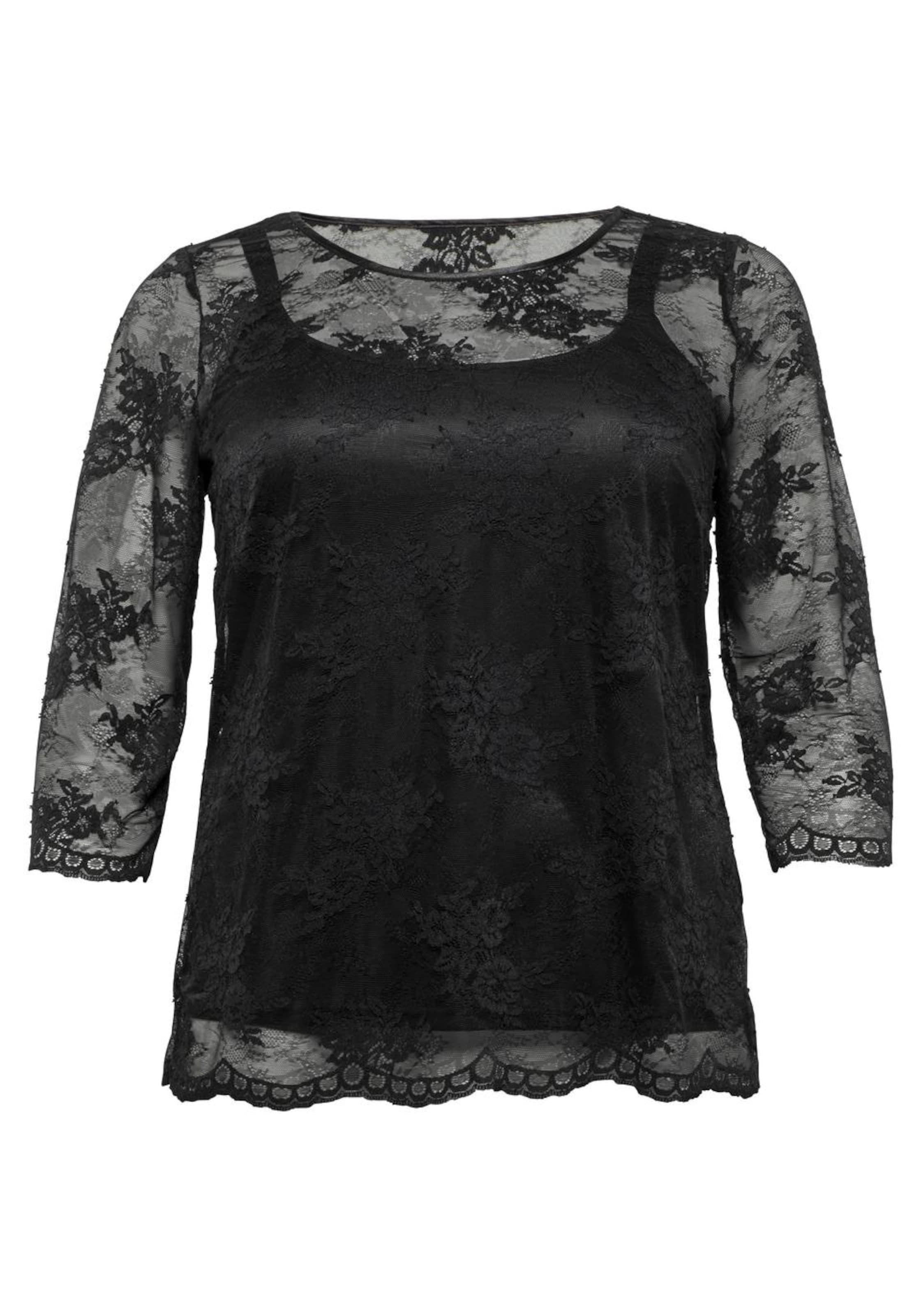 Spitzenshirt Schwarz In Sheego Sheego Sheego Spitzenshirt Style Style In Schwarz lTK31FJc
