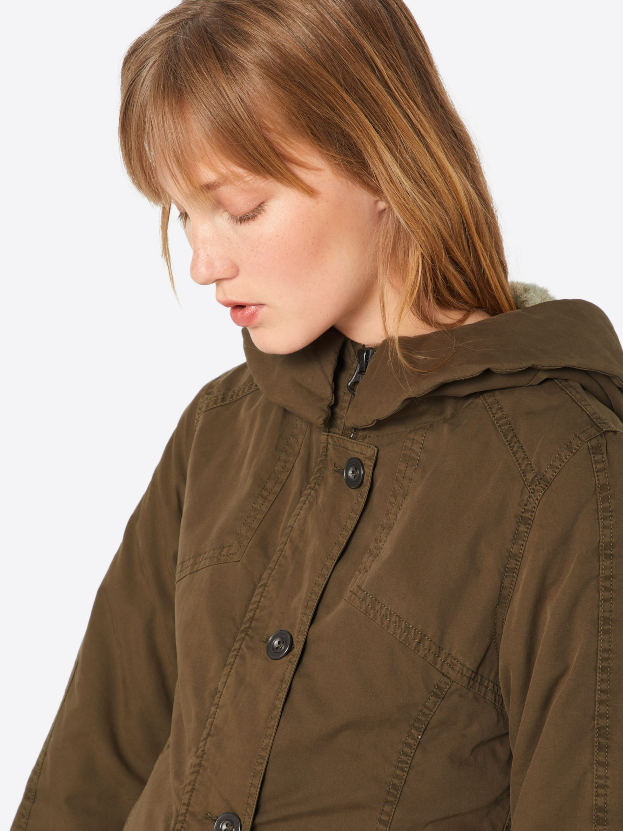 En Washed Long' Garment Classics Parka Olive 'ladies Urban D'hiver NnOvwm80