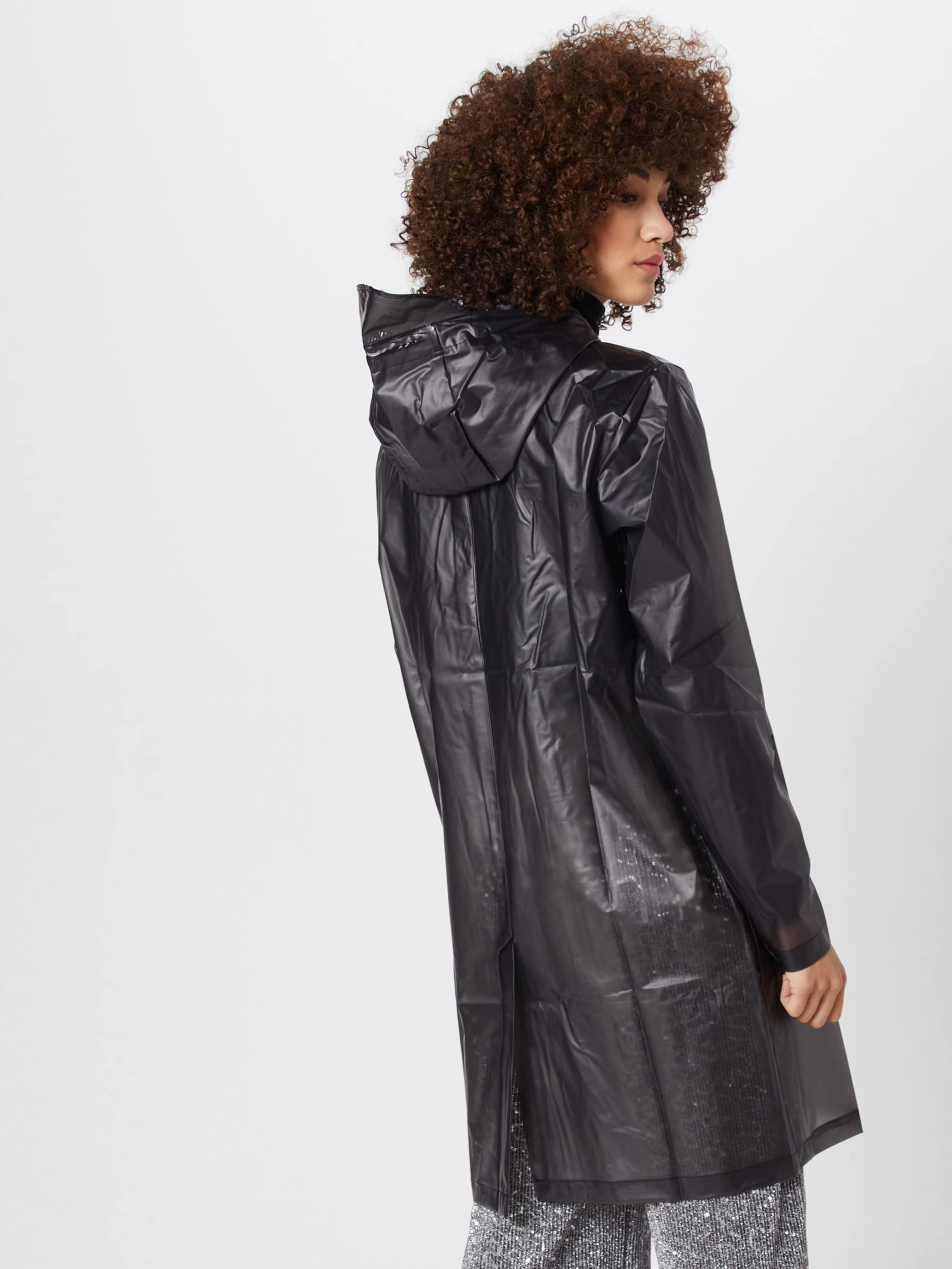 Coat' Mantel Schwarz Rains 'hooded In EH29WID