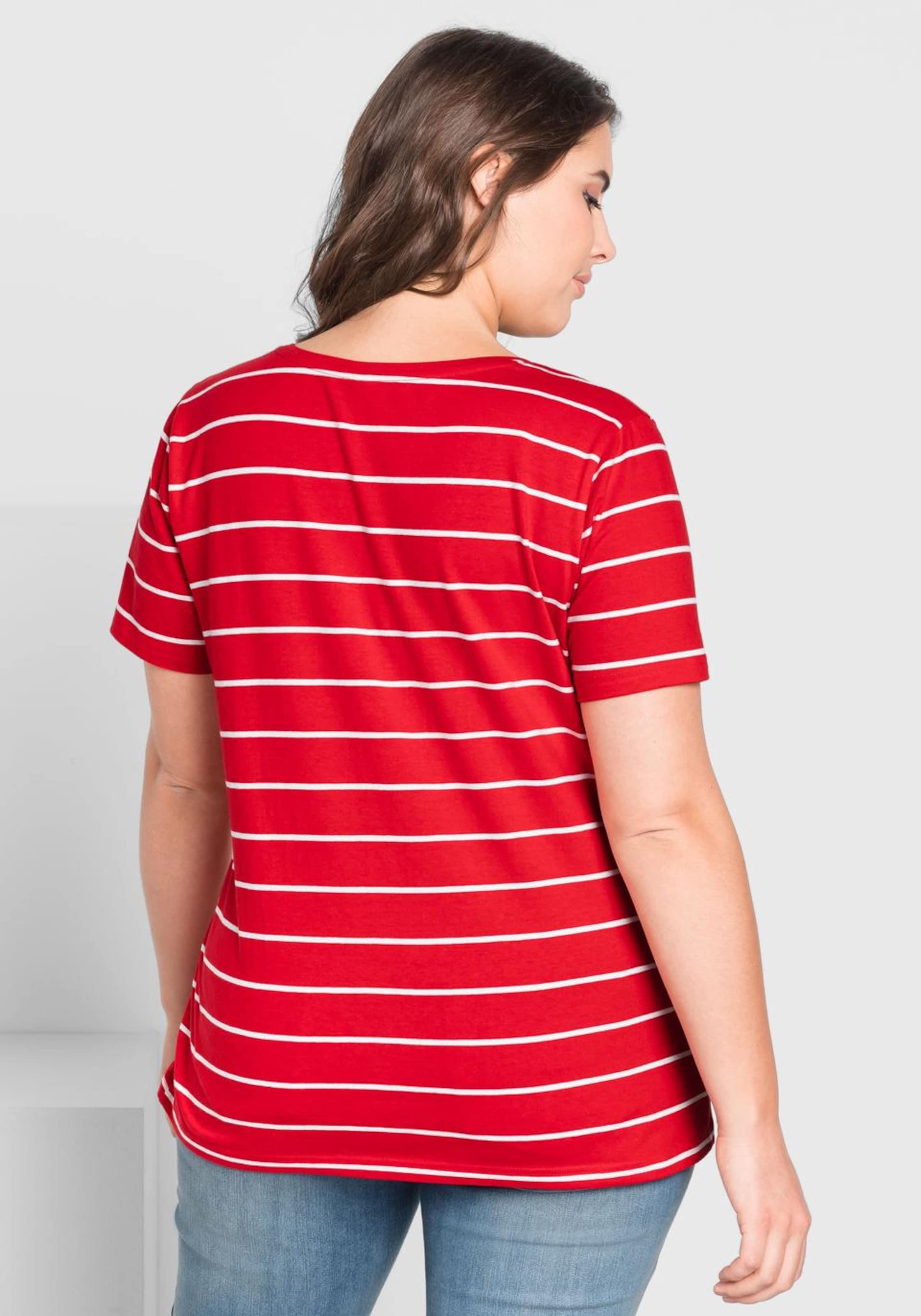 In shirt Casual T Sheego RotWeiß b76gyf