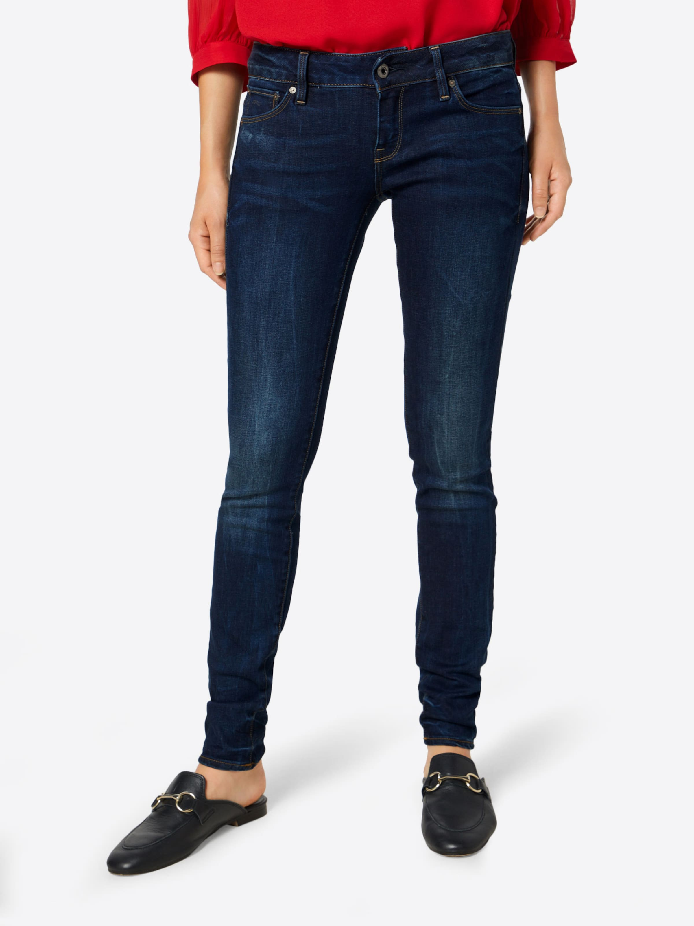 star Low '3301 Blue Raw Waist' Denim Skinny G In XwPOkn08