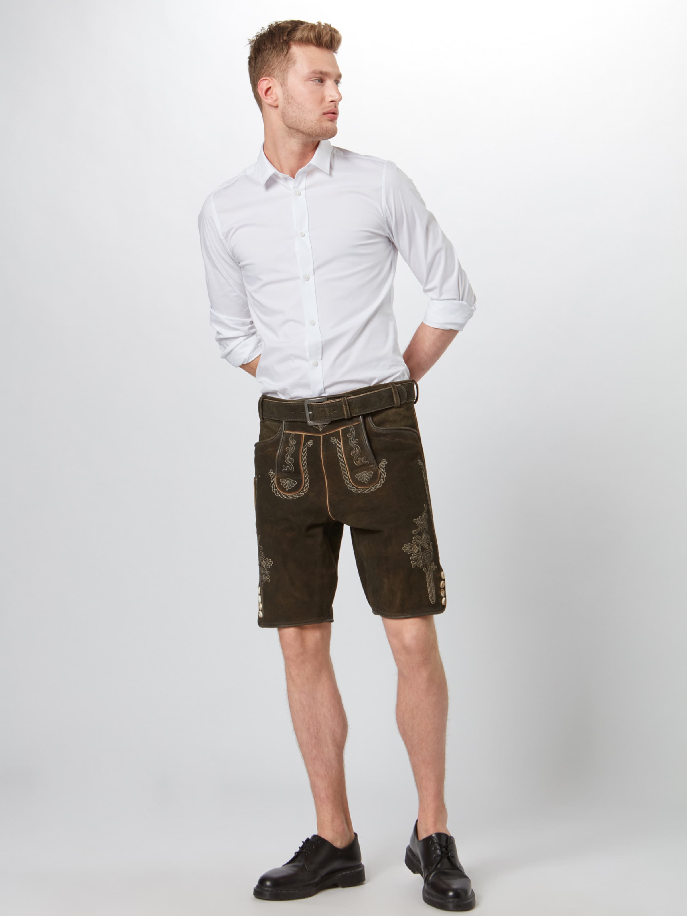 Ii' En 'schorsch Foncé Brun Marjo Folklorique Pantalon Nm0O8vnw
