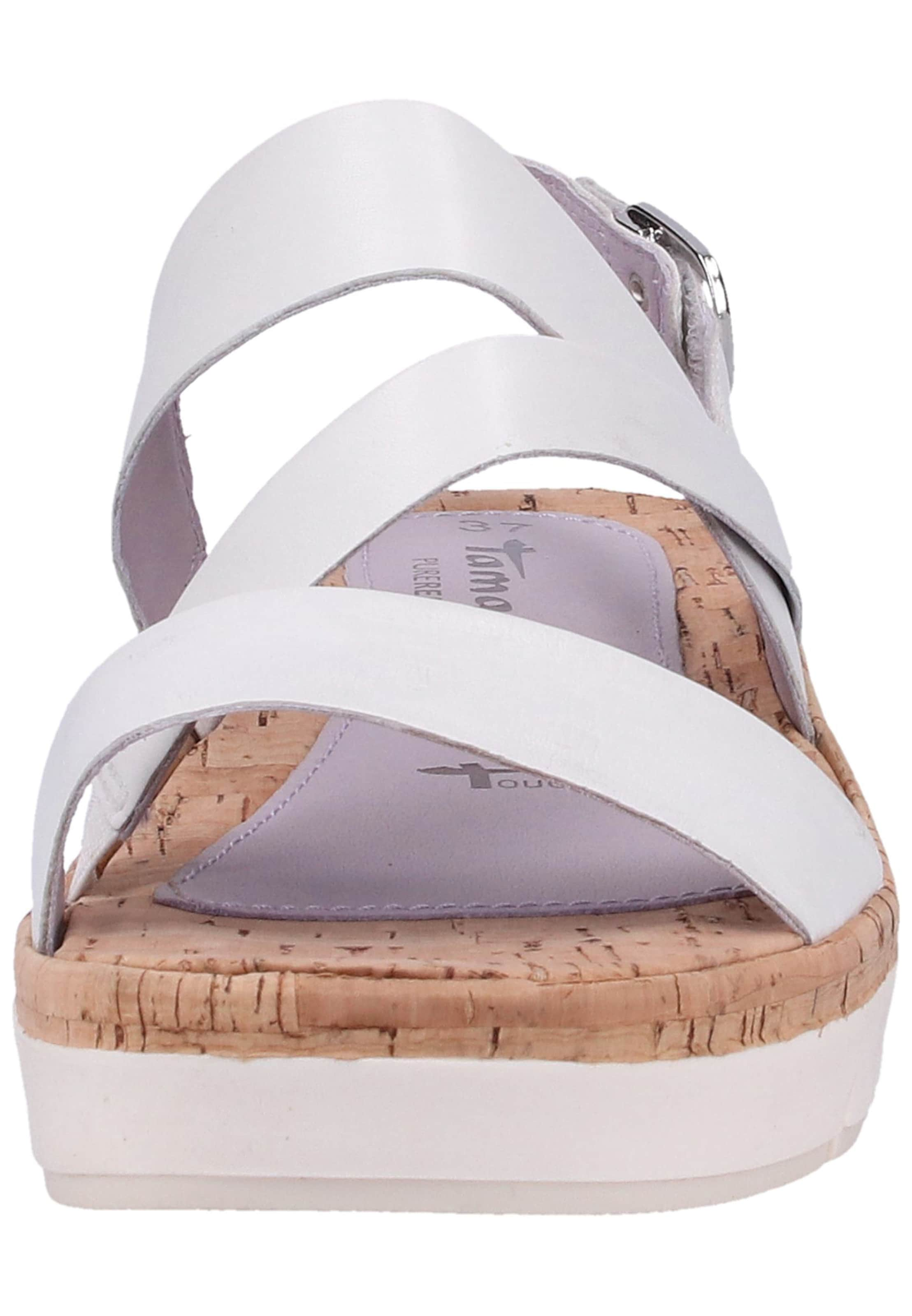 En Sandales Blanc À Tamaris Lanières nkwPOX80