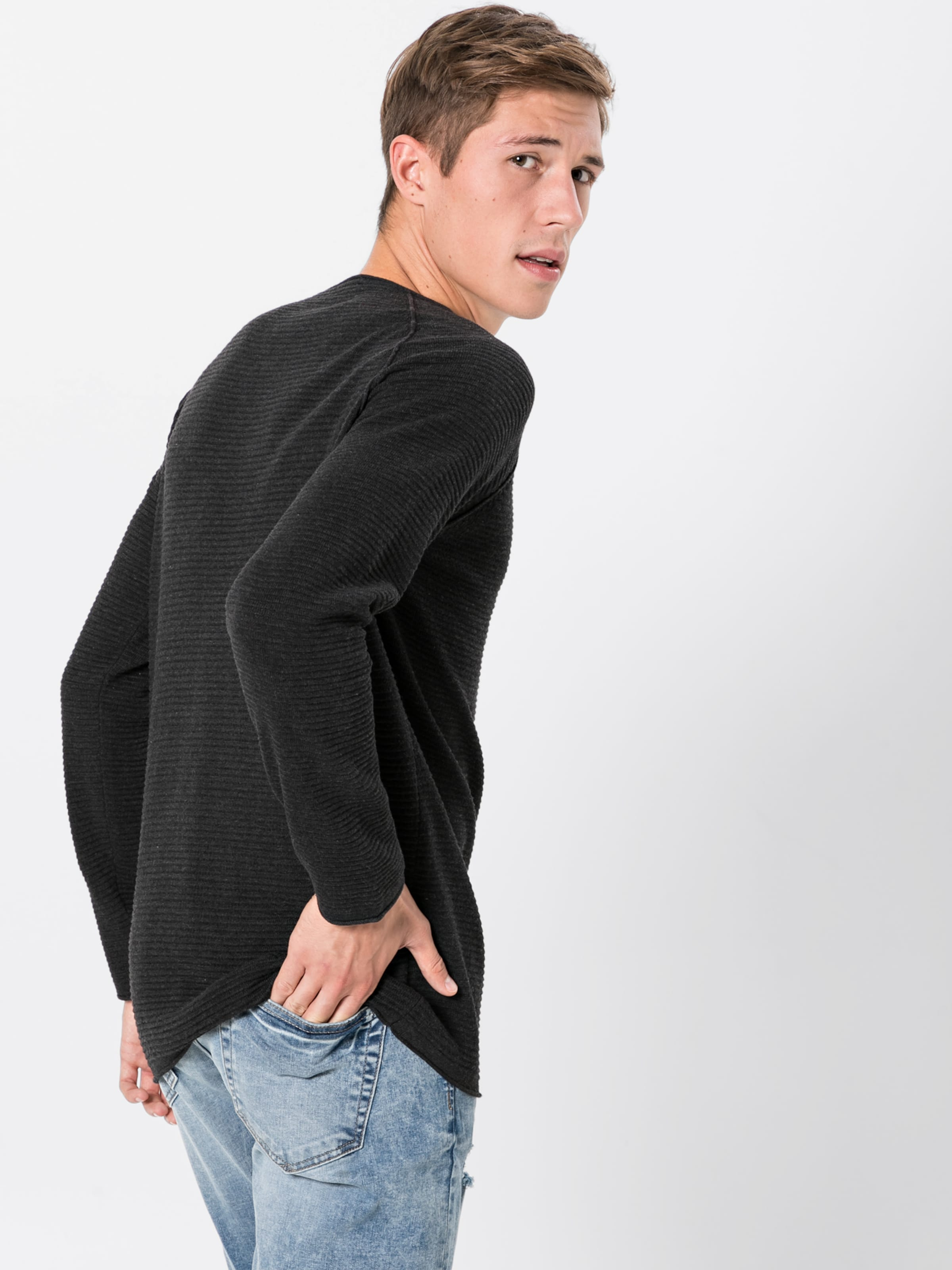 over Pull 'cn Chiné Review En 2tone' Gris m80nNw