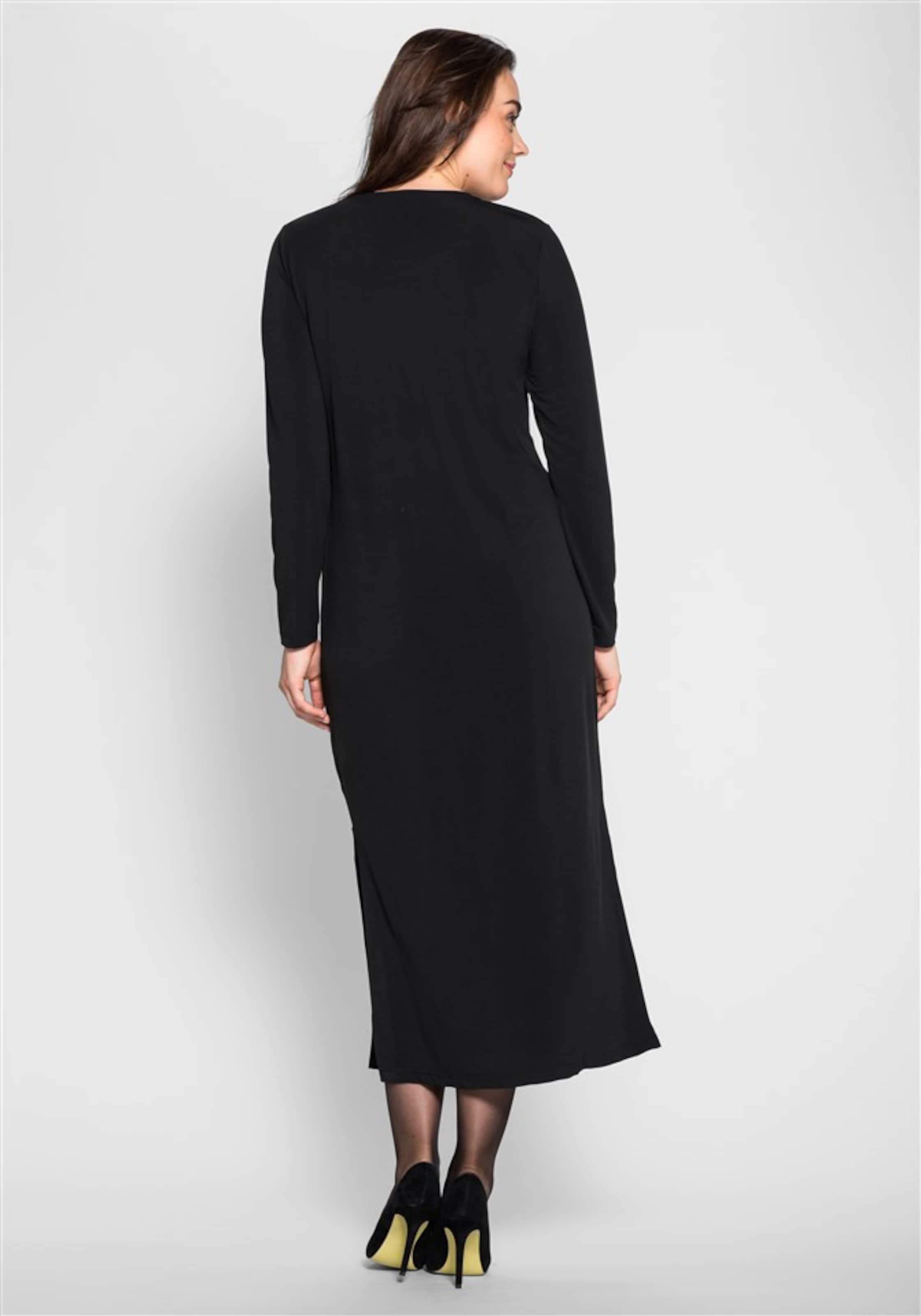 Style Schwarz In Jerseykleid Sheego FKclJ1T