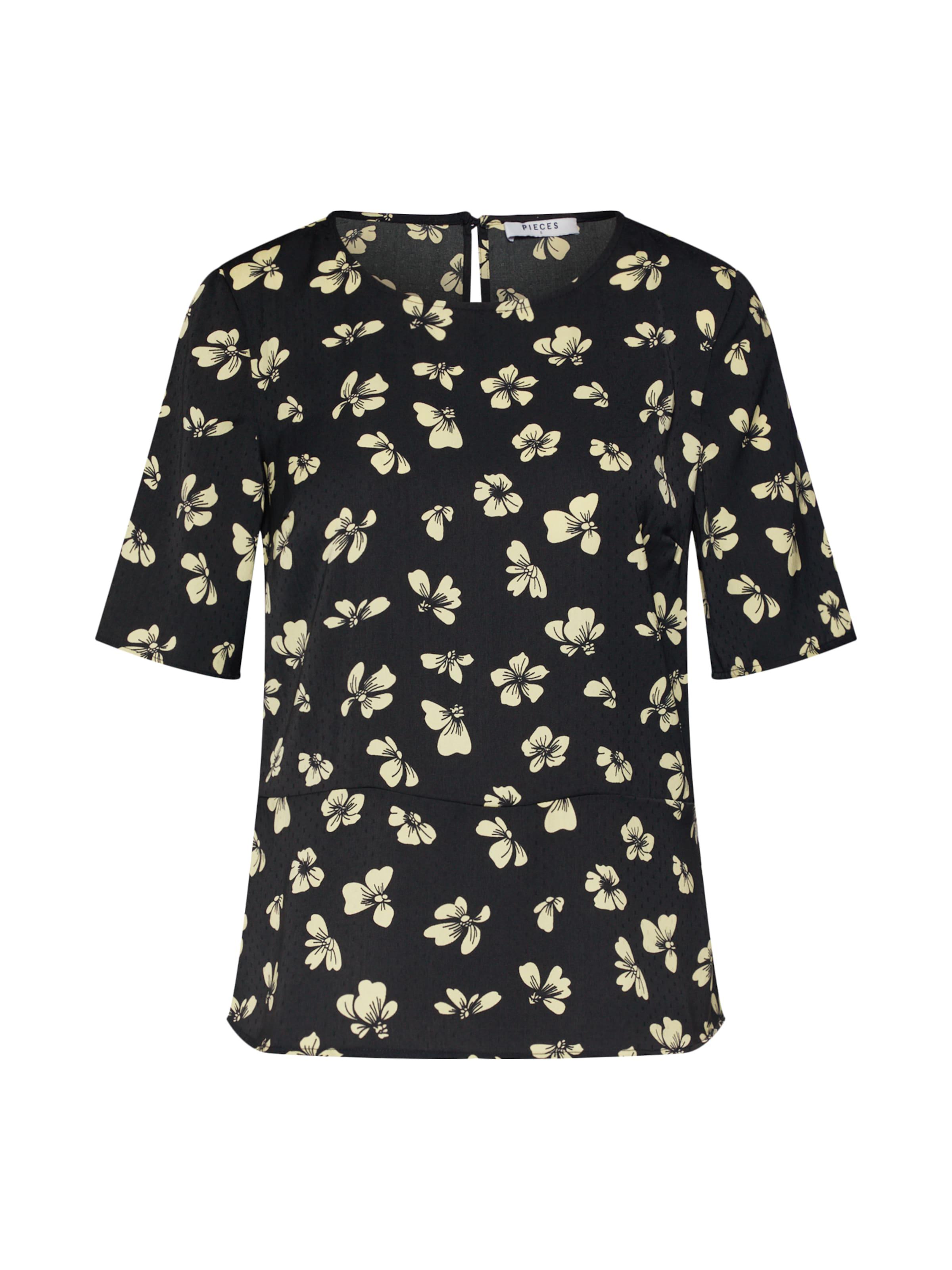 Pieces JauneNoir shirt T En 'stine' VUMSGzqp