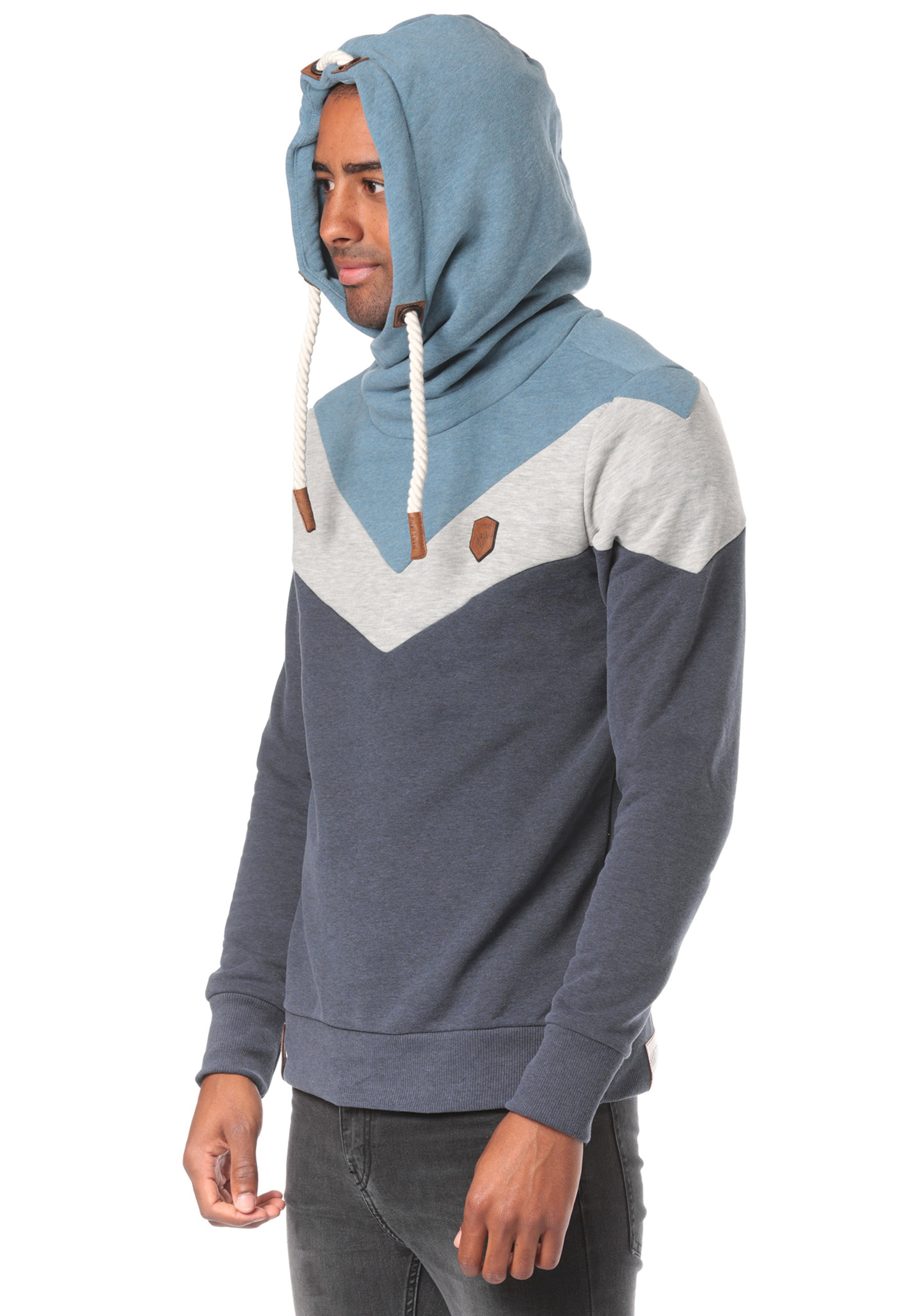 Sweat Chiné Naketano Blanc 'kifferboarder' FuméNuit En Bleu Gris shirt XiuwTPkOZ