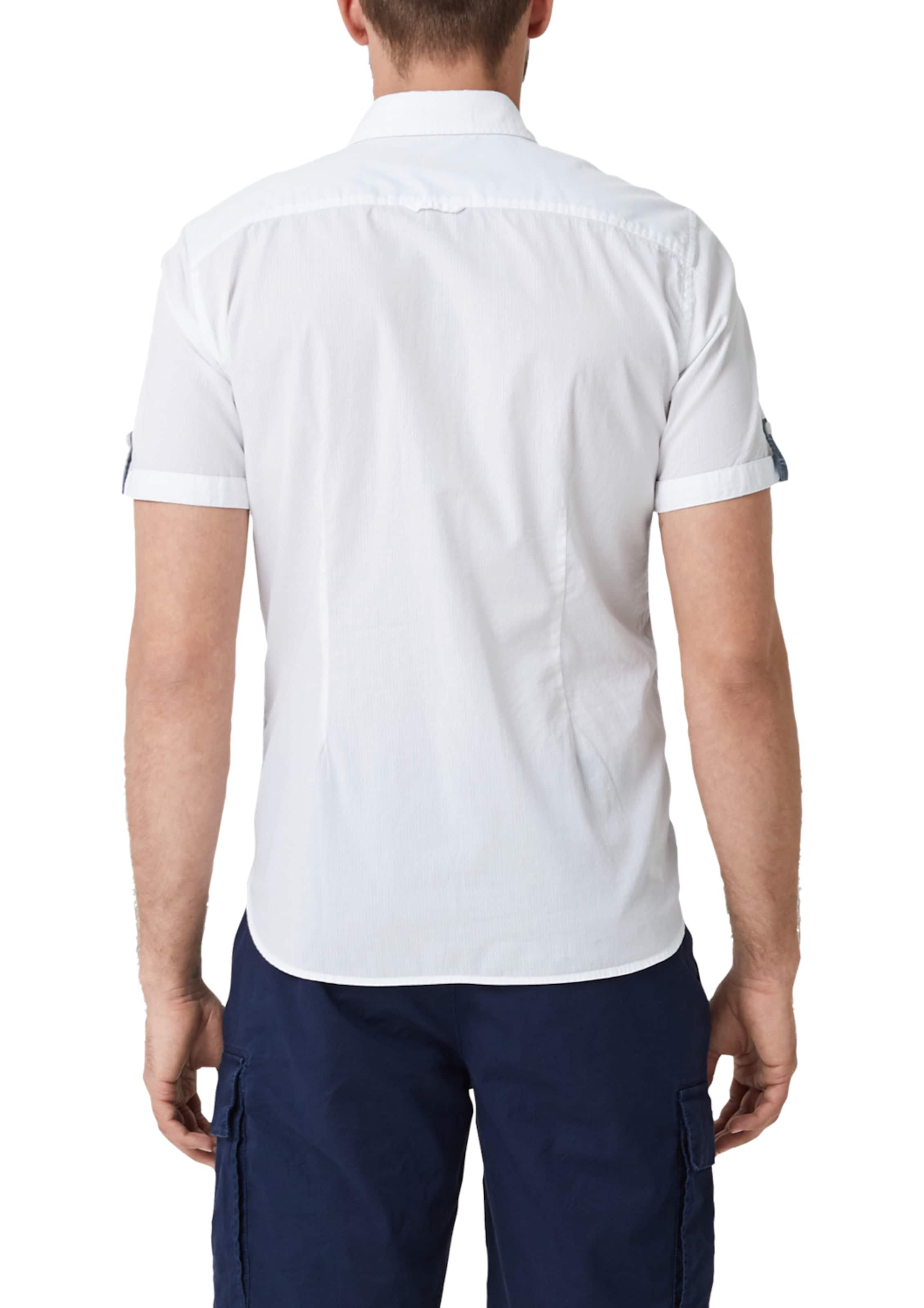 S Red Weiß Label Hemd In oliver NOny80vmw