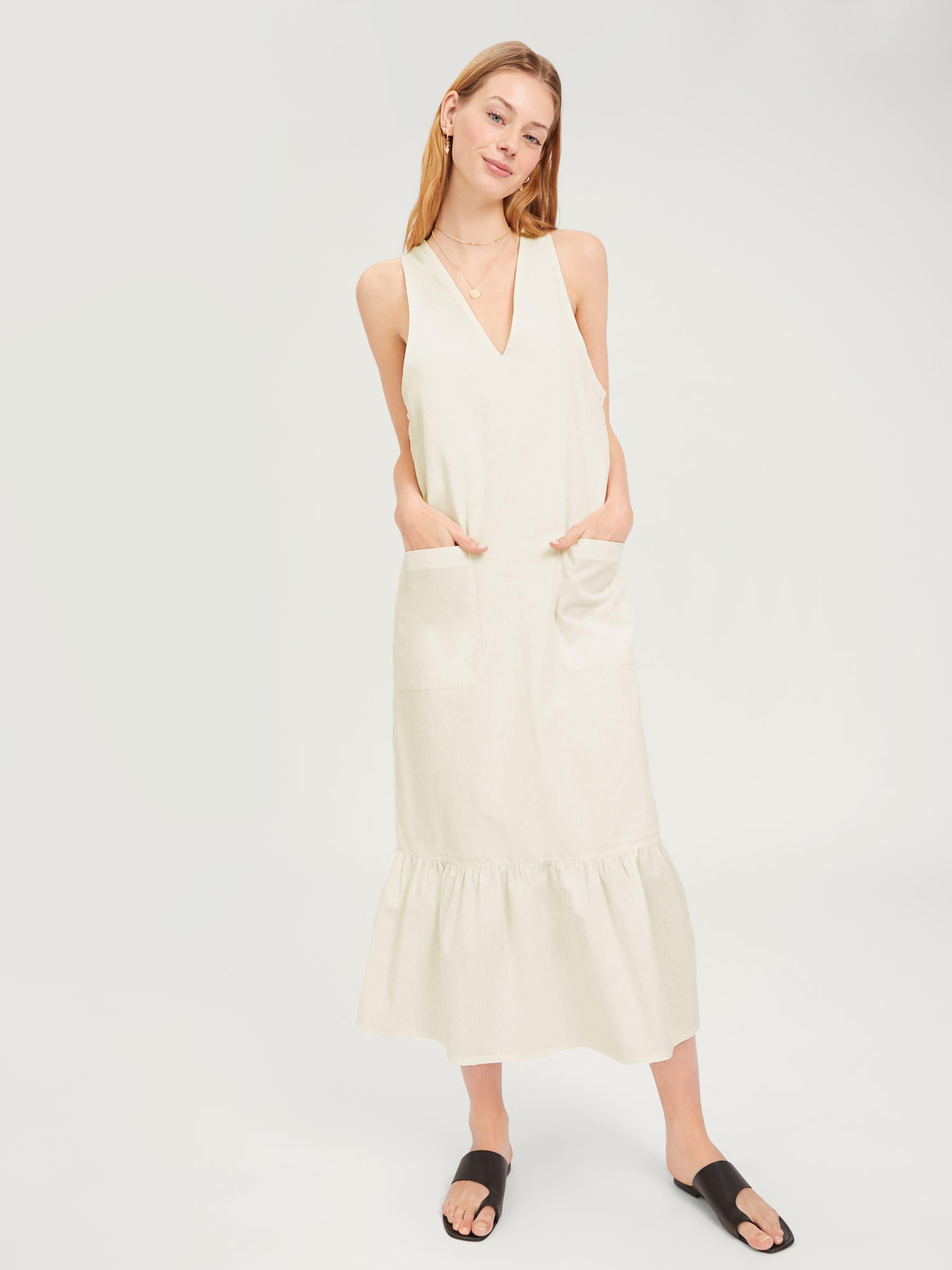 D'été En 'devin' Cassé Edited Blanc Robe 3ScAjq54LR