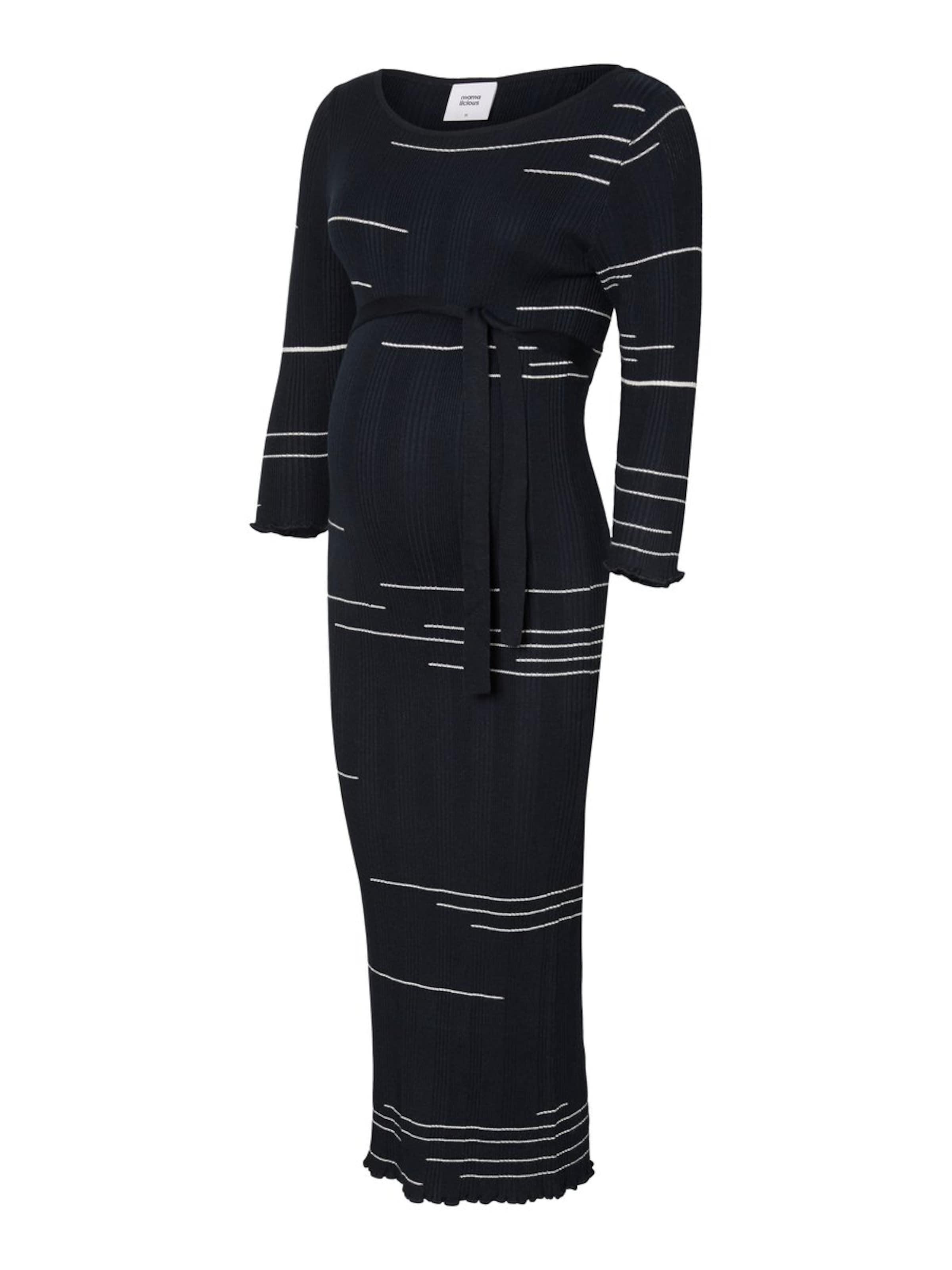 Bleu Mamalicious Robes En FoncéBlanc Maille UqGVMSpz