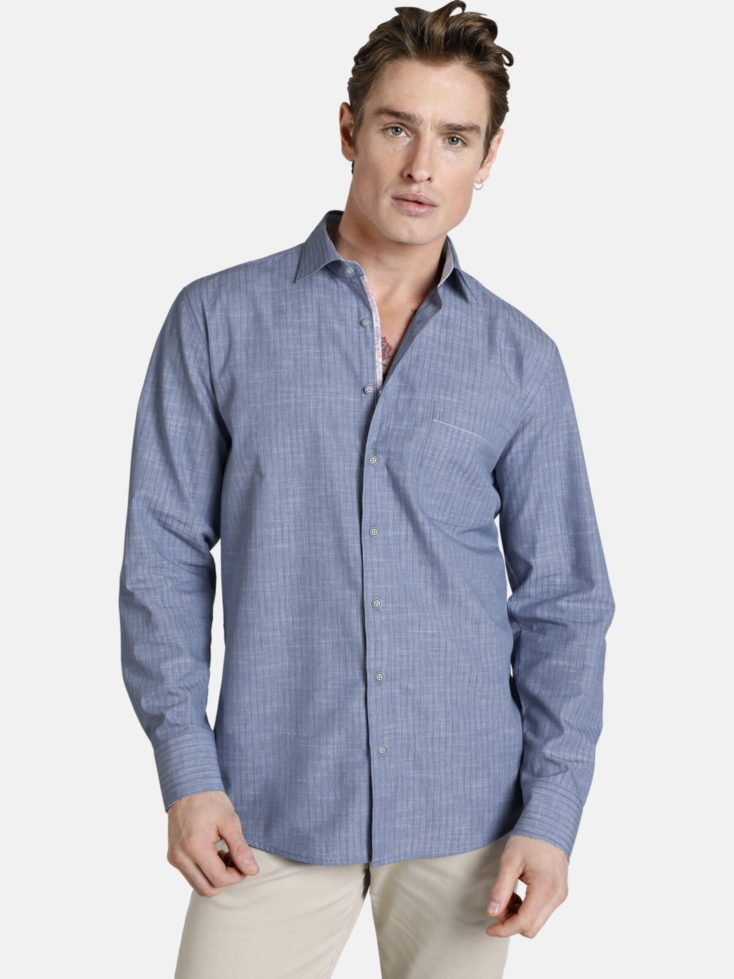 Hemd In 'blueandcoral' Shirtmaster 'blueandcoral' Shirtmaster Blau Hemd eEID92YWH