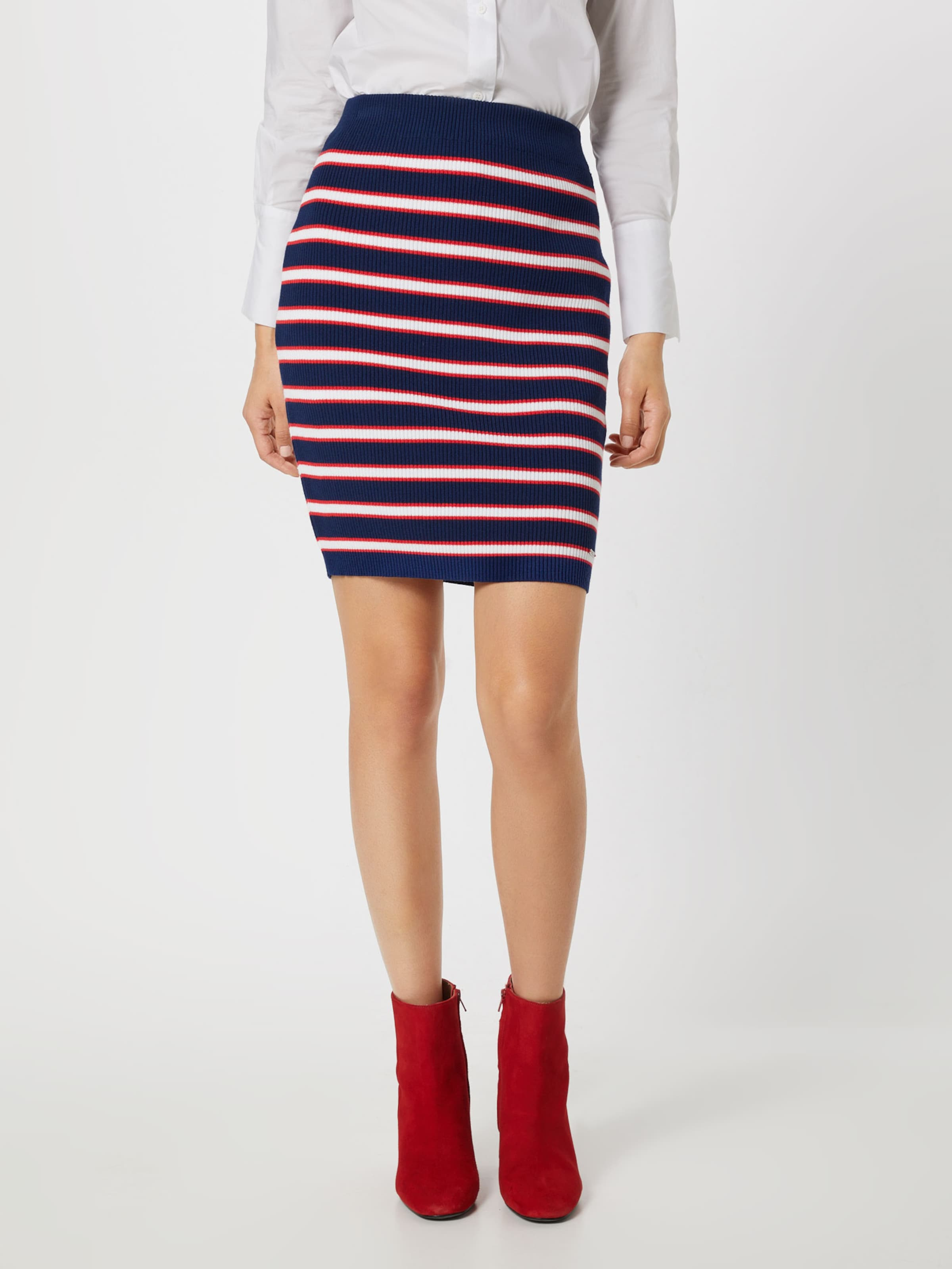 En Guess 'alexandra Skirt' MarineRouge Bleu Sweater Blanc Jupe htsdxrBQC