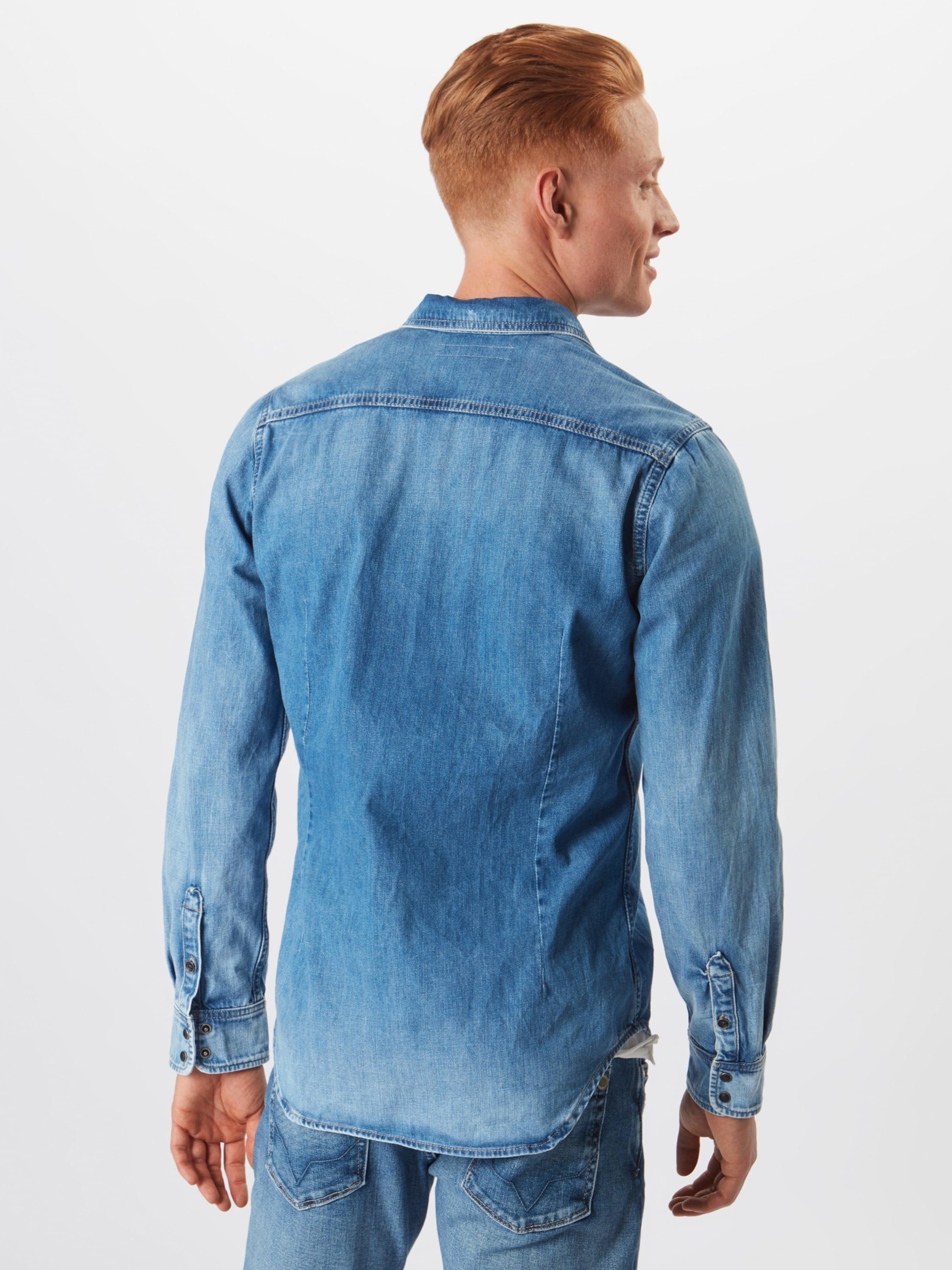 Chemise Bleu 'hammond' Jeans Pepe En Denim HE2IDeW9Y