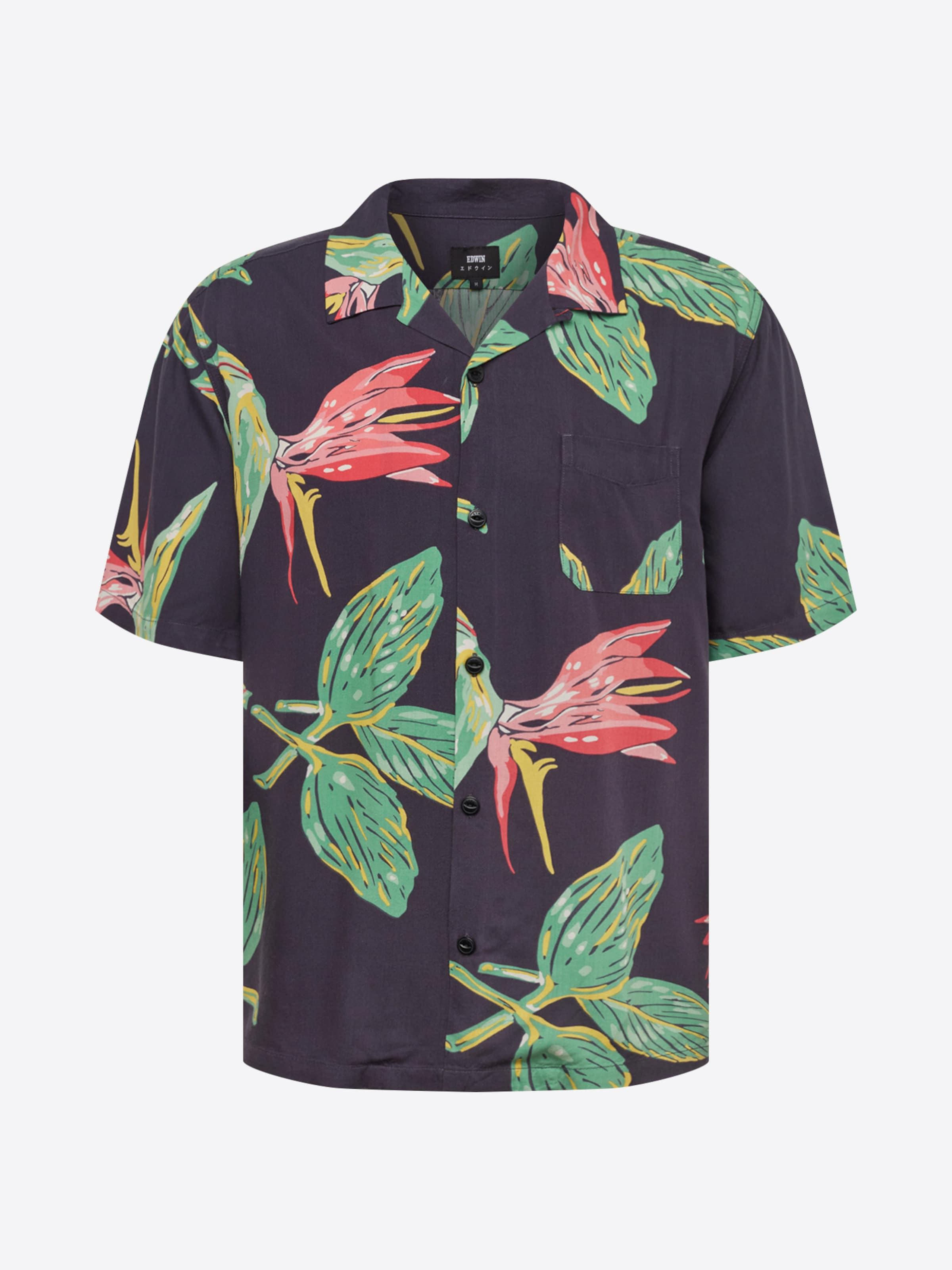 Shirt' Noir VertRouge Chemise En Edwin 'resort A3Rqj5L4