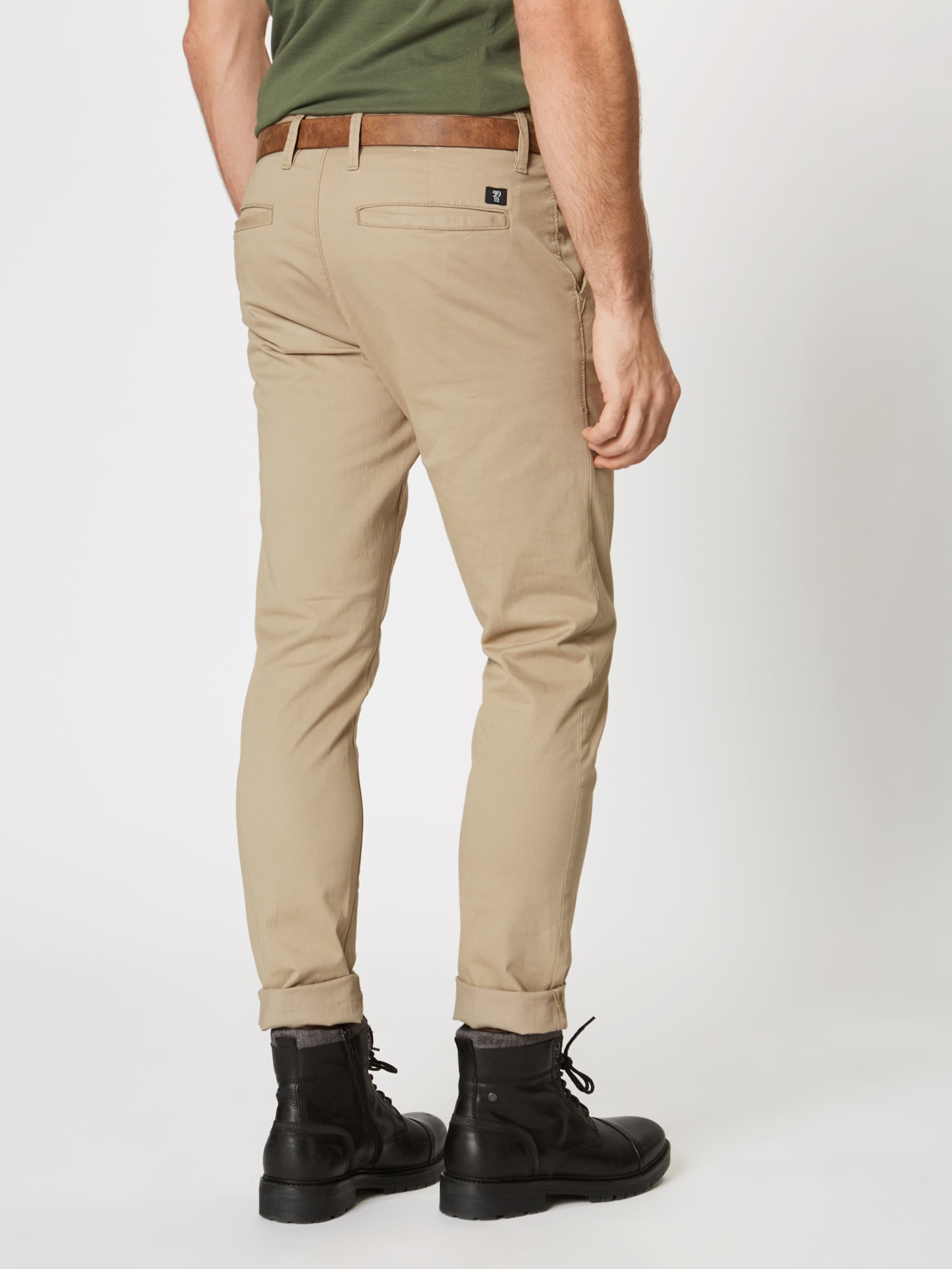 Pantalon En Denim Chino Tom Vert Tailor Foncé kiuZOTPX