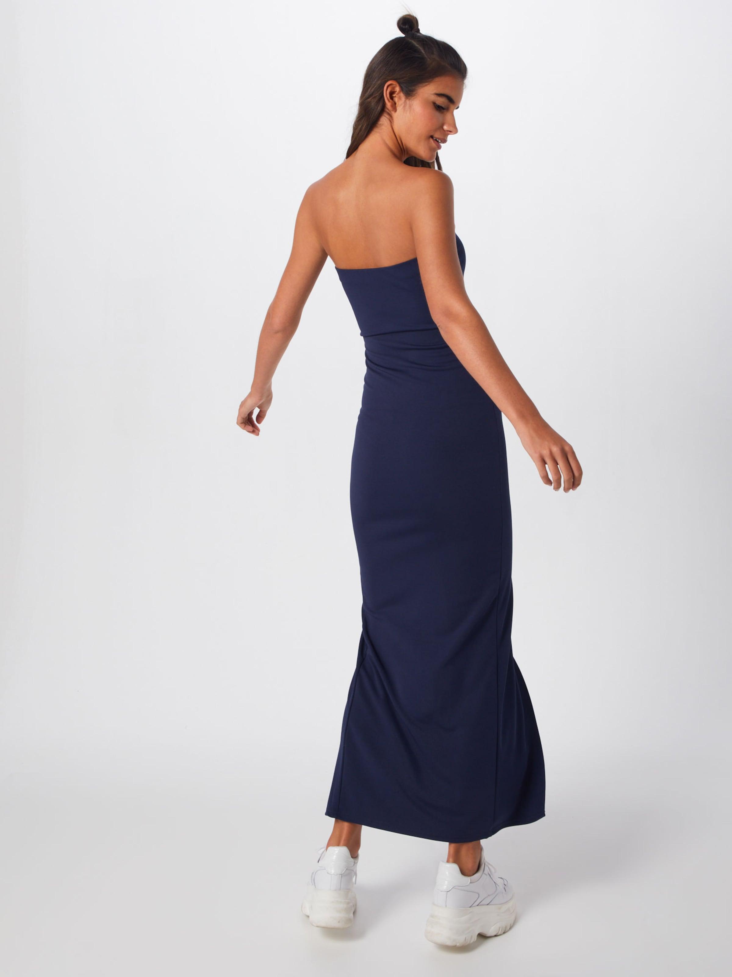 Dress' Missguided Front Bleu Maxi Robe D'été 'bandeau Split En Marine EH29IWD