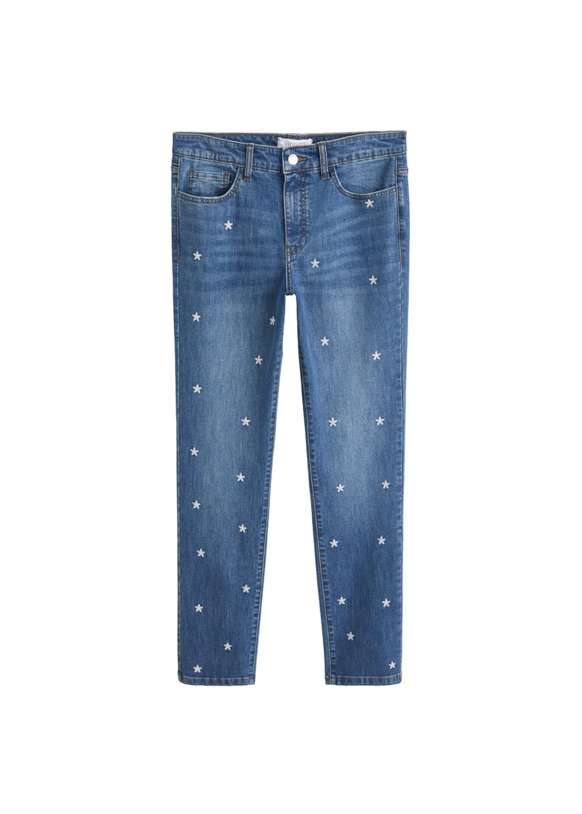 In By Violeta Jeans 'bolitas' Denim Mango Blue OilPkuTwXZ