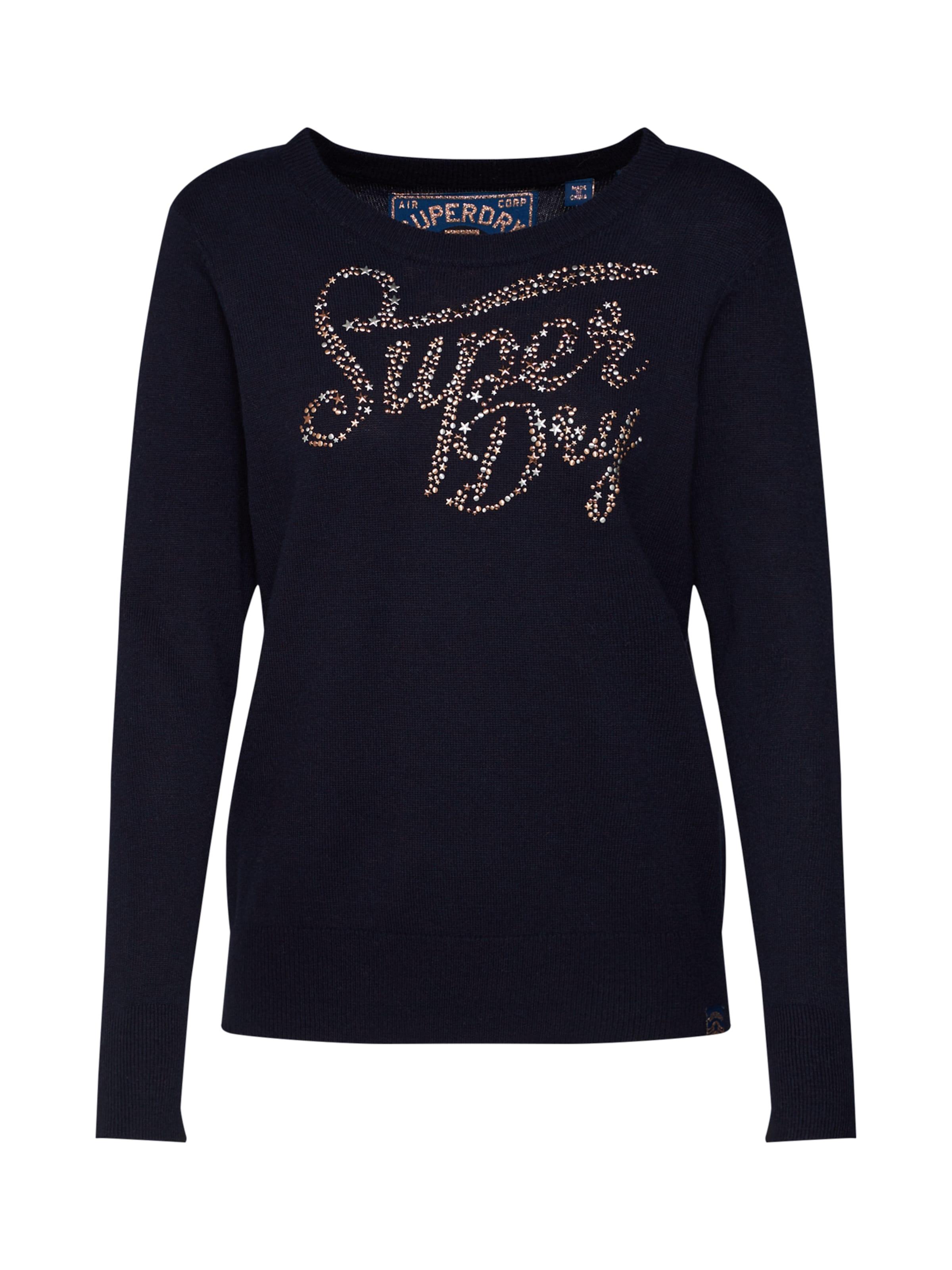 Nuit Gemstone Pull over Bleu En 'superdry ' Superdry kXnw80NOP