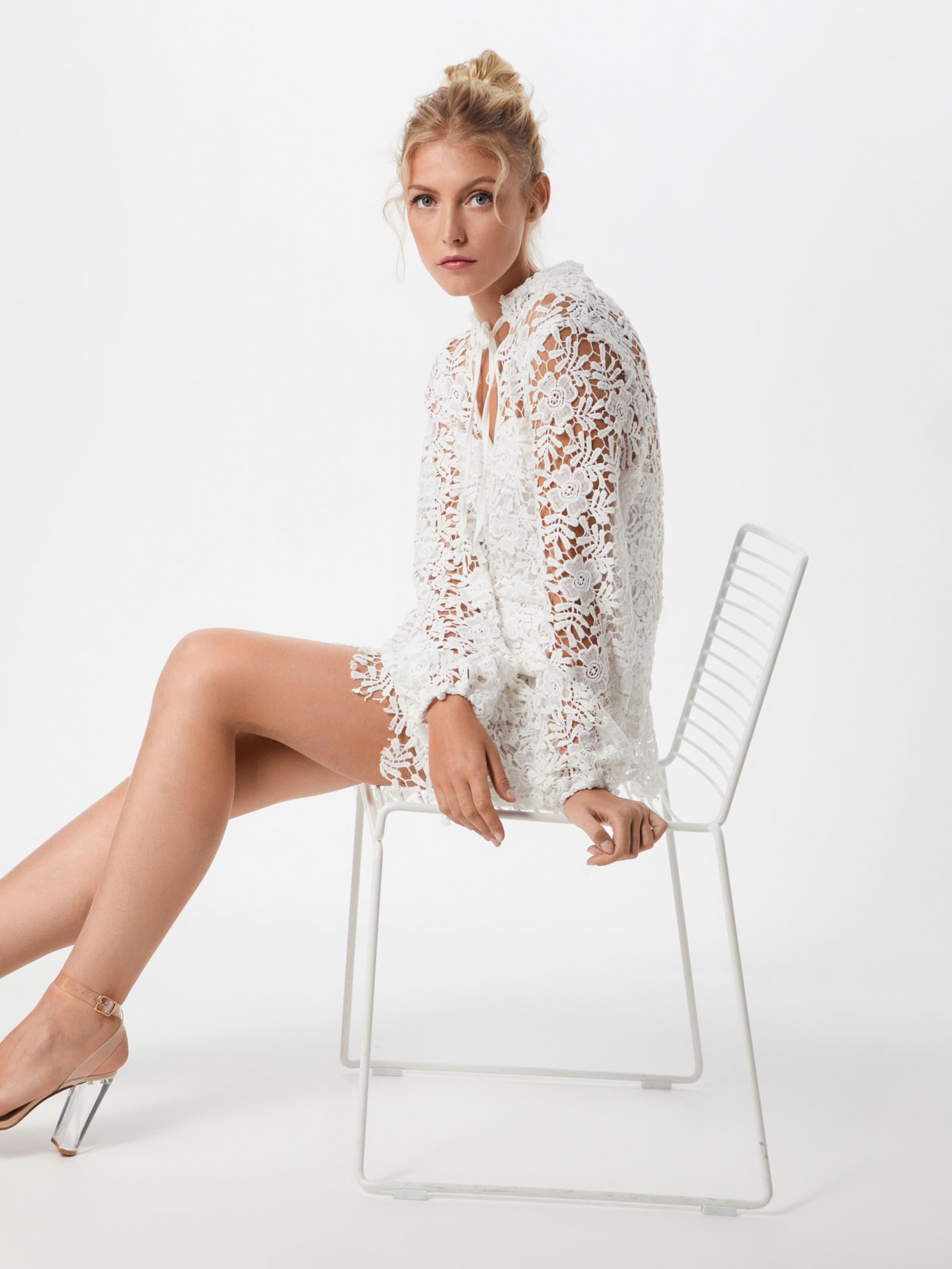 'crotchet Blanc Robe chemise Missguided Layered' En N08wmnOPyv