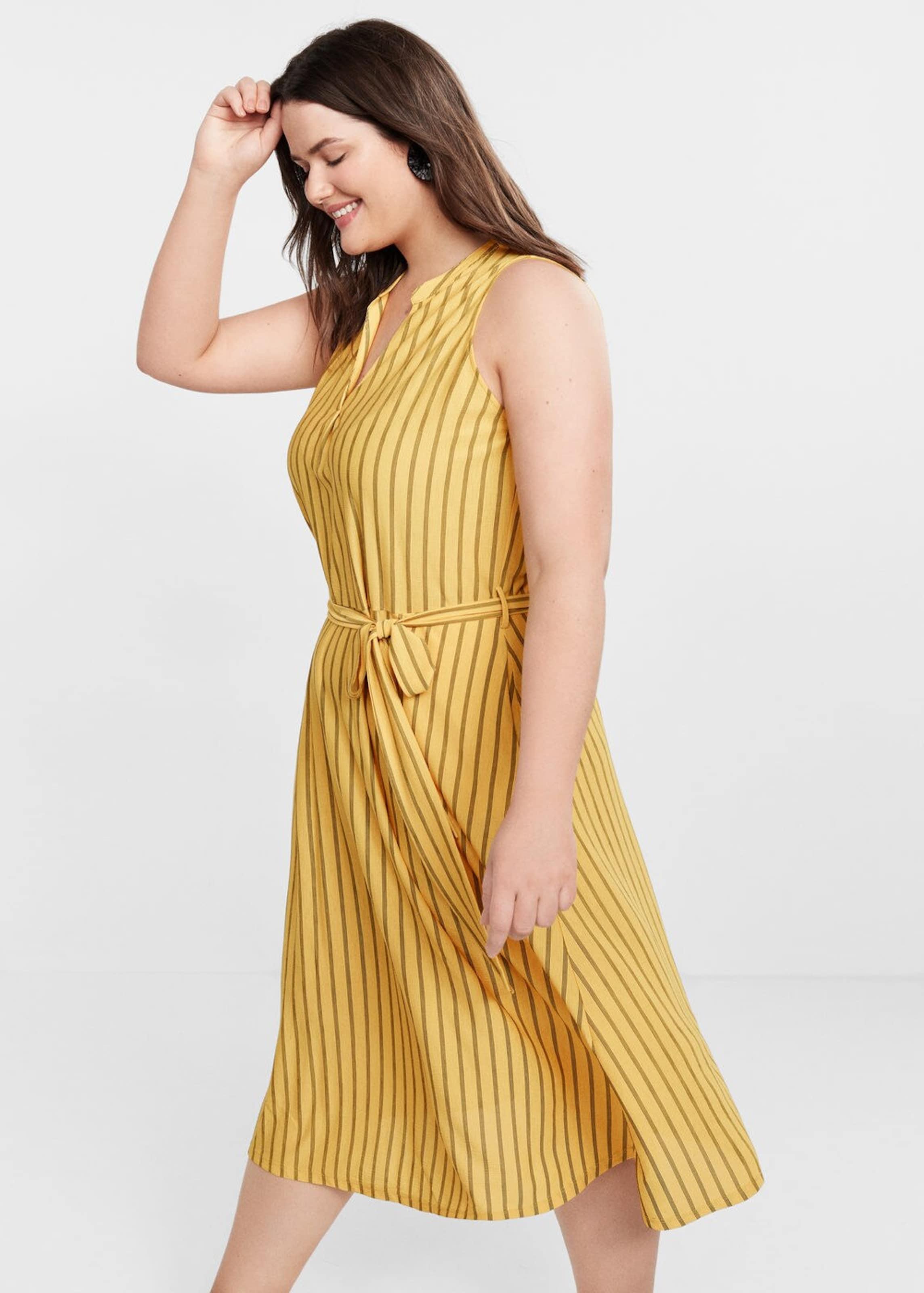 'kristen Kleid Violeta By Mango In BraunGelb i' nwmNvO80