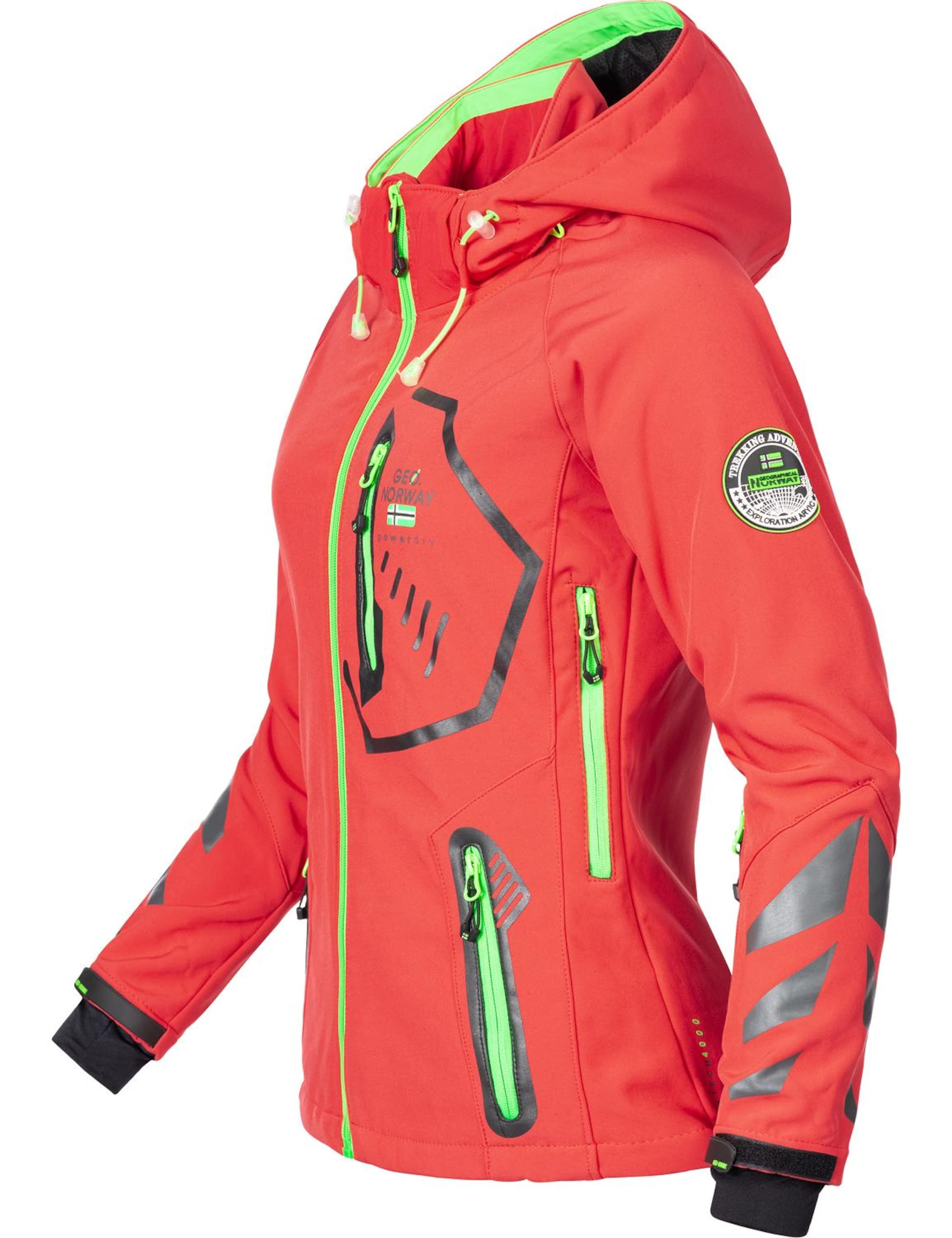 Neongr��nKoralle Norway Jacke In 'thea' Geographical xdWreCQBo