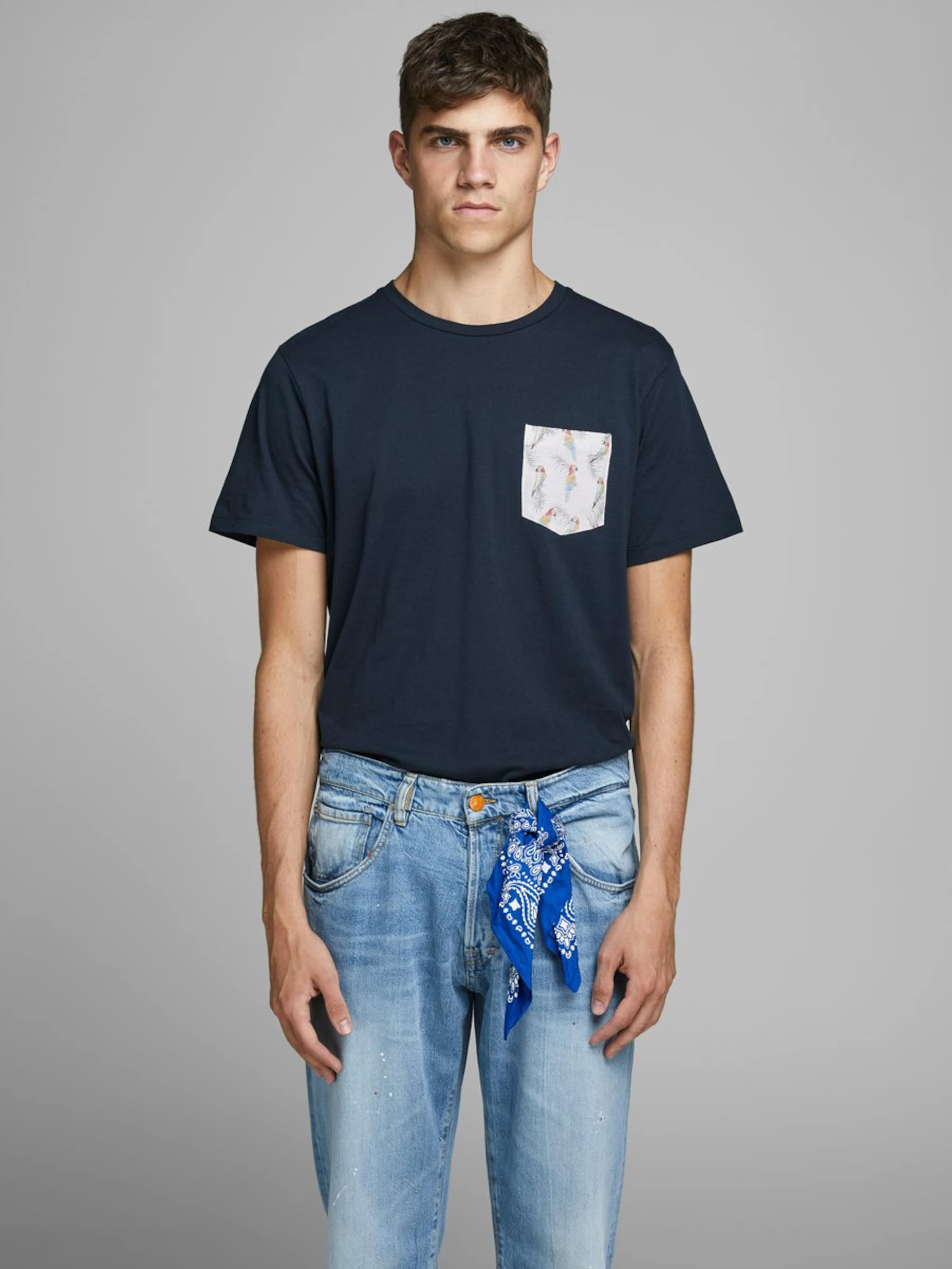 T Jackamp; Jones En Nuit Bleu shirt PkZuiOX