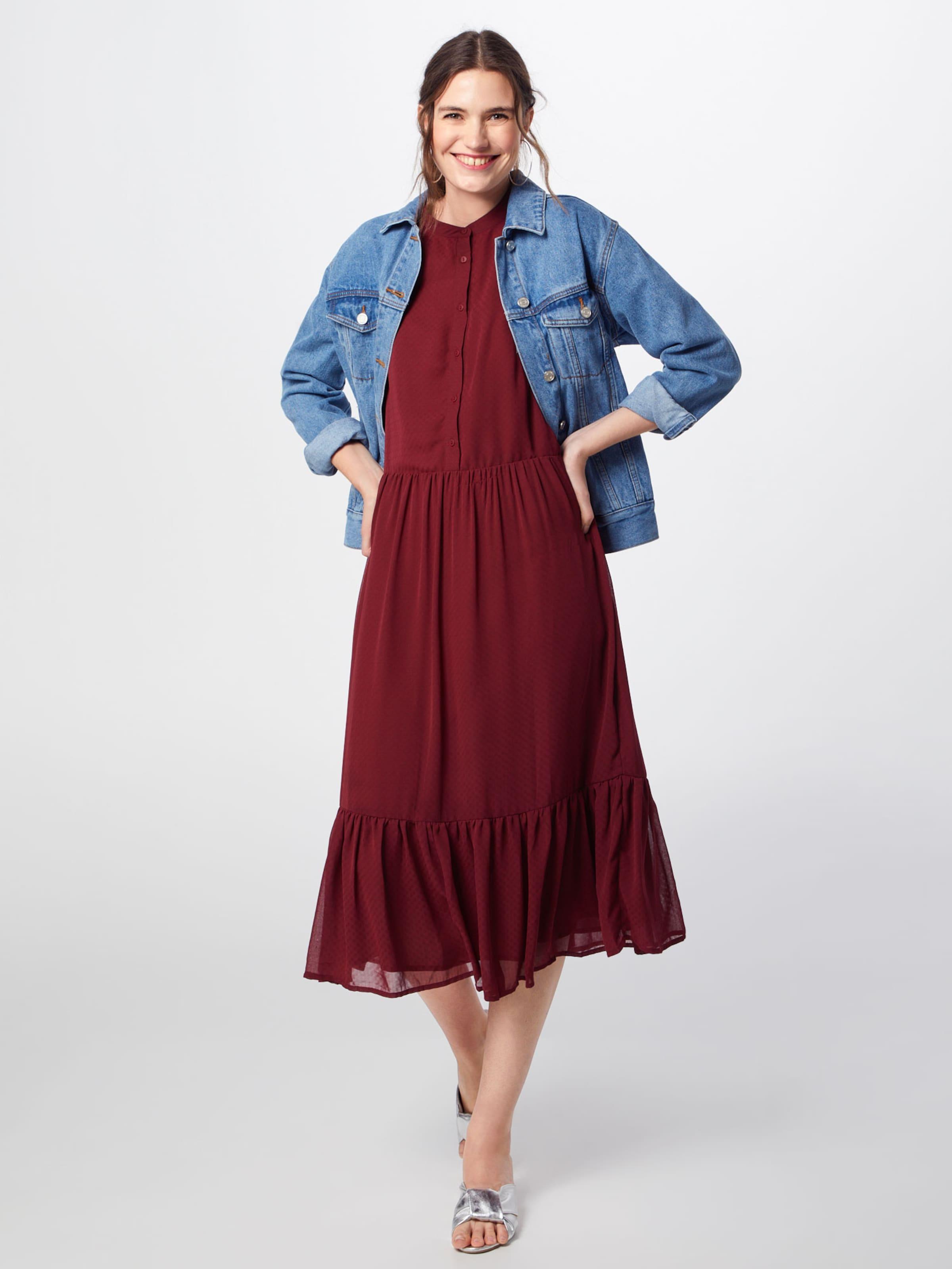 Minimum 'margitte' Merlot chemise Robe En I76bfgyYvm