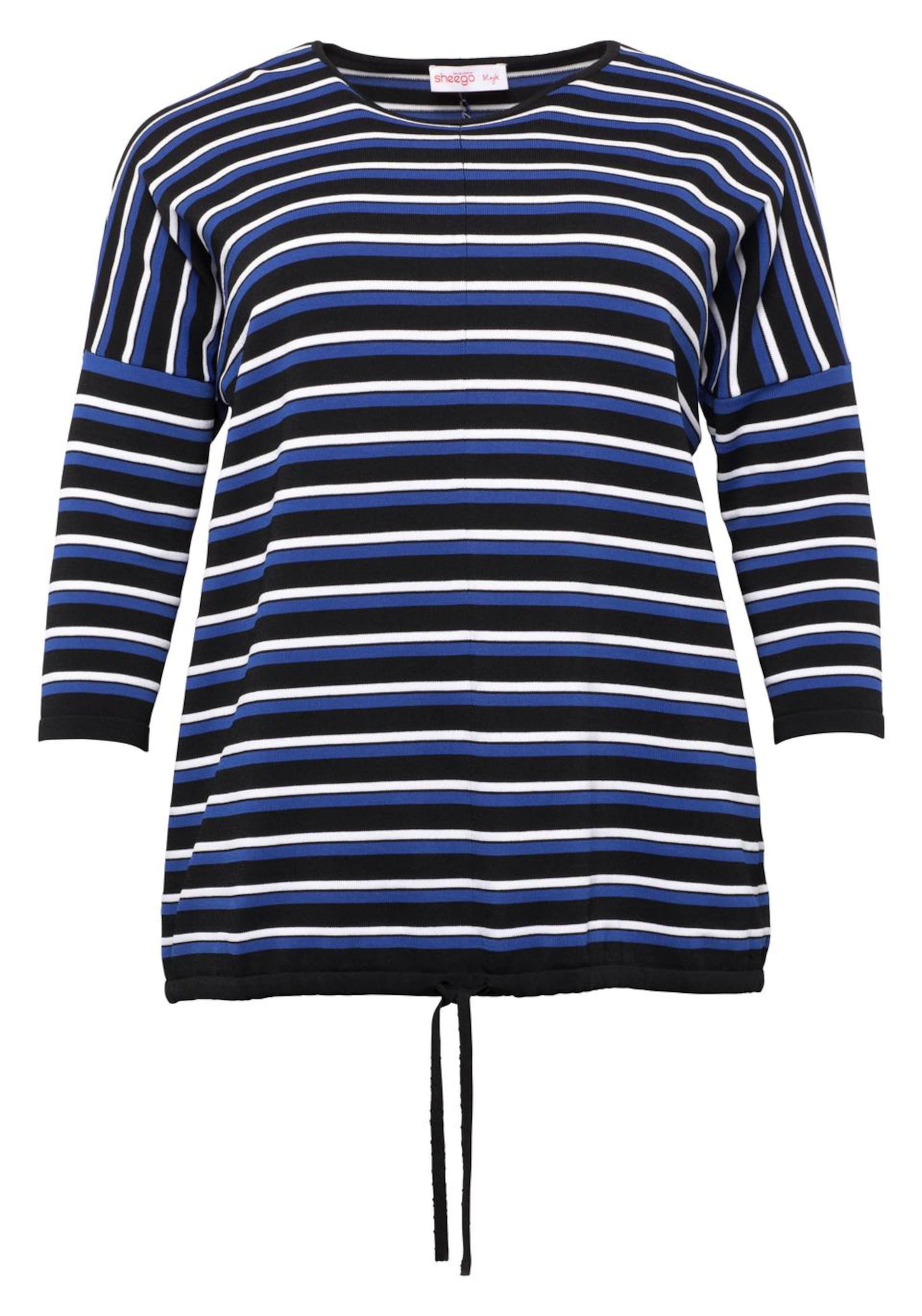 Pullover Style In BlauSchwarz Sheego Weiß KcFT5ulJ31