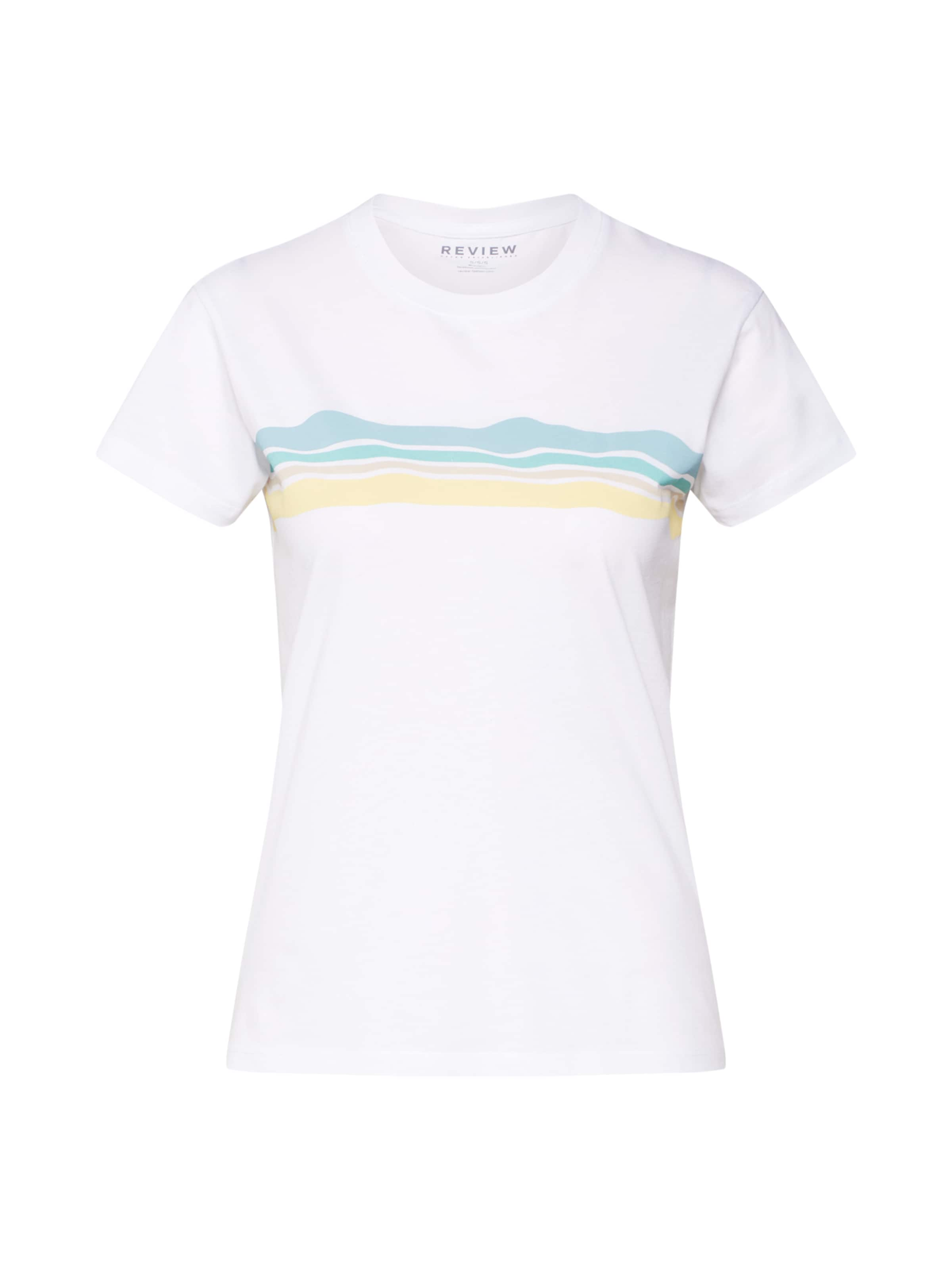 Review shirt FuméJaune Stripe' Bleu En Blanc 't Wave T 34j5LAR