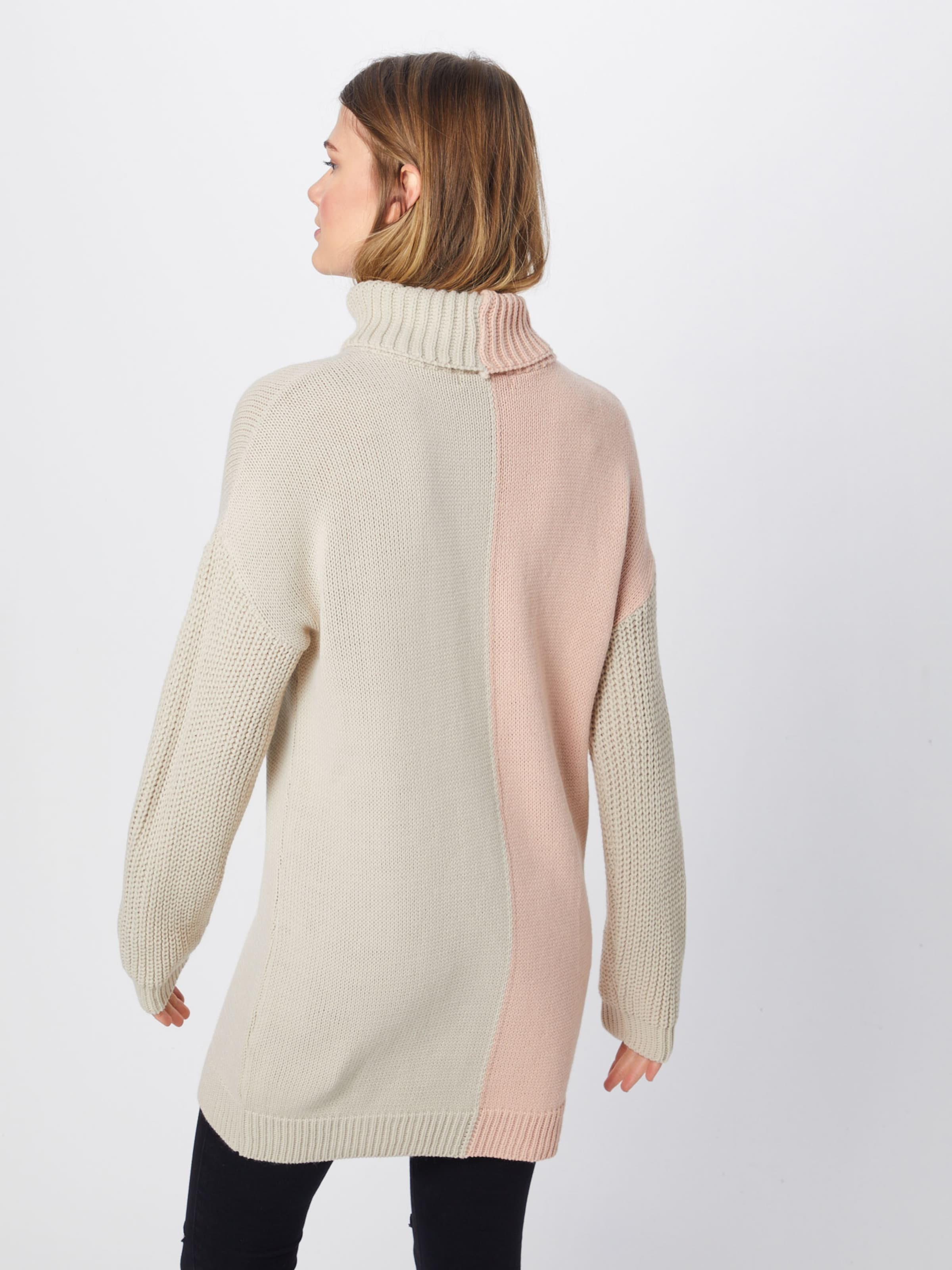 Neck Pullover Roll RosaWei Missguided Jumper' 'spliced Colourblock In PkXO0w8n