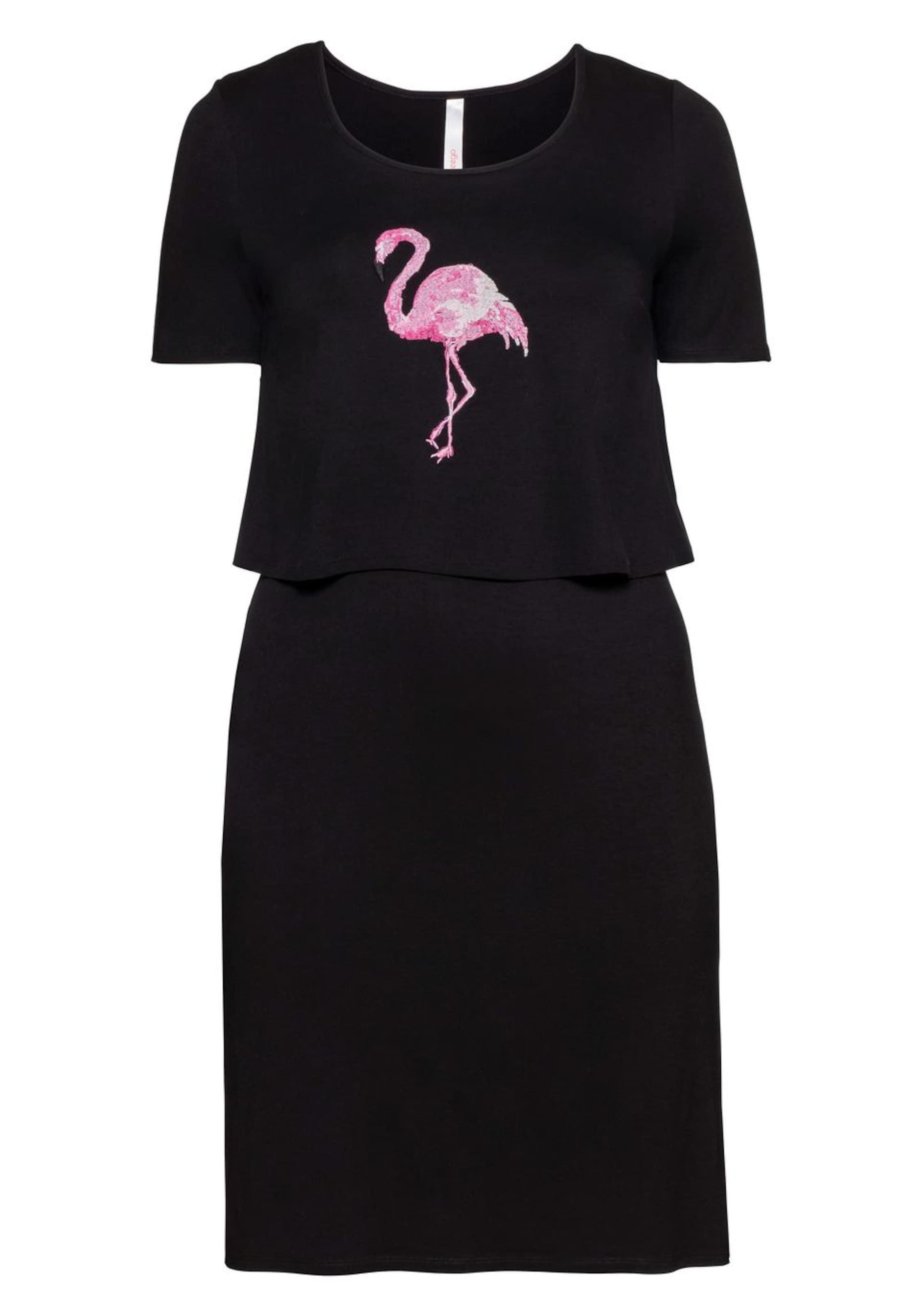 Sheegotit Kleid Kleid PinkPastellpink Sheegotit Schwarz In OZPkXui