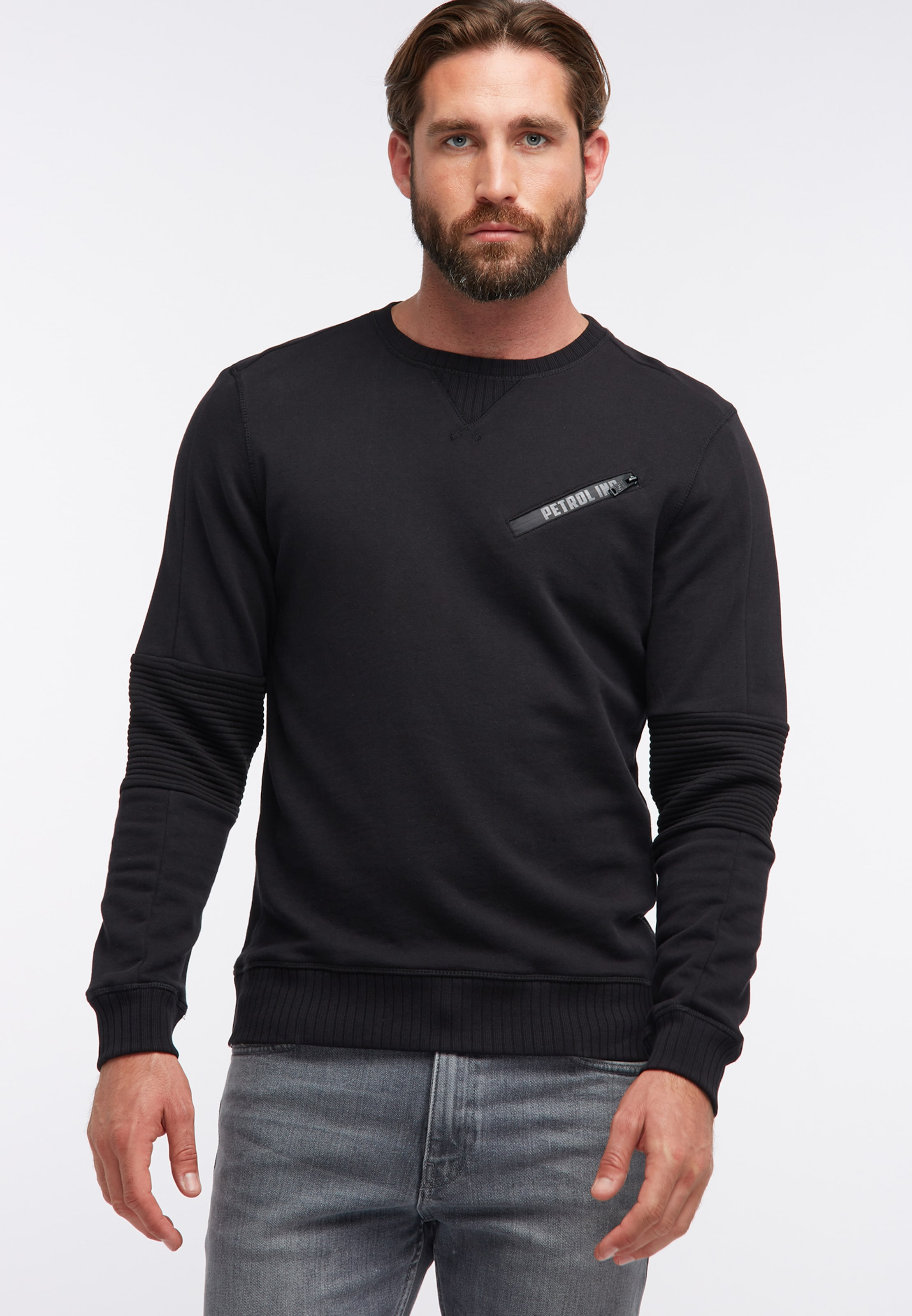 Petrol Sweat En shirt Industries Noir PZOuXkiT