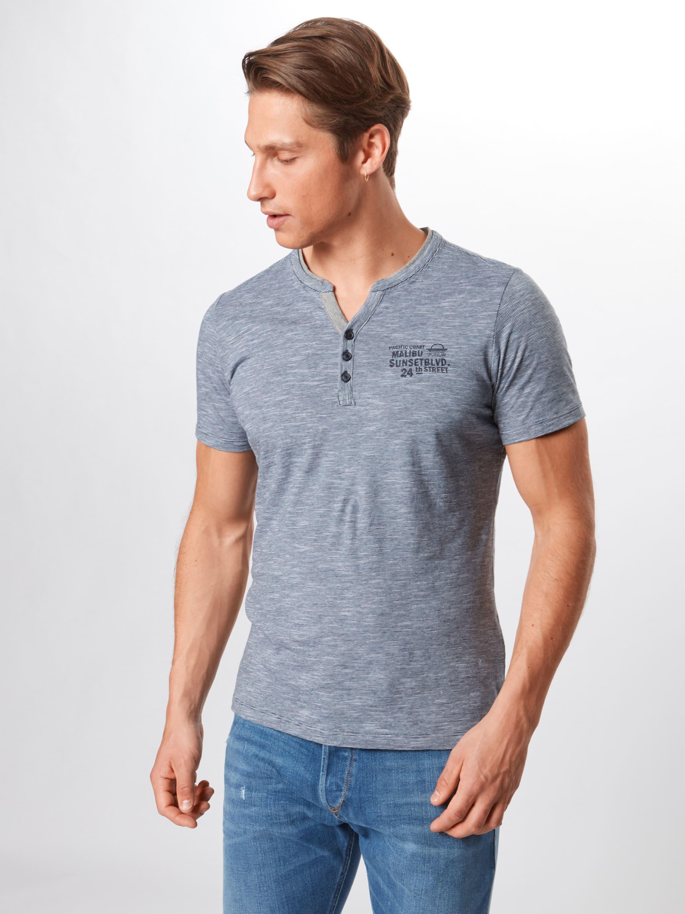 S Bleu Red Chiné En Label T shirt oliver LVpGqzUSM