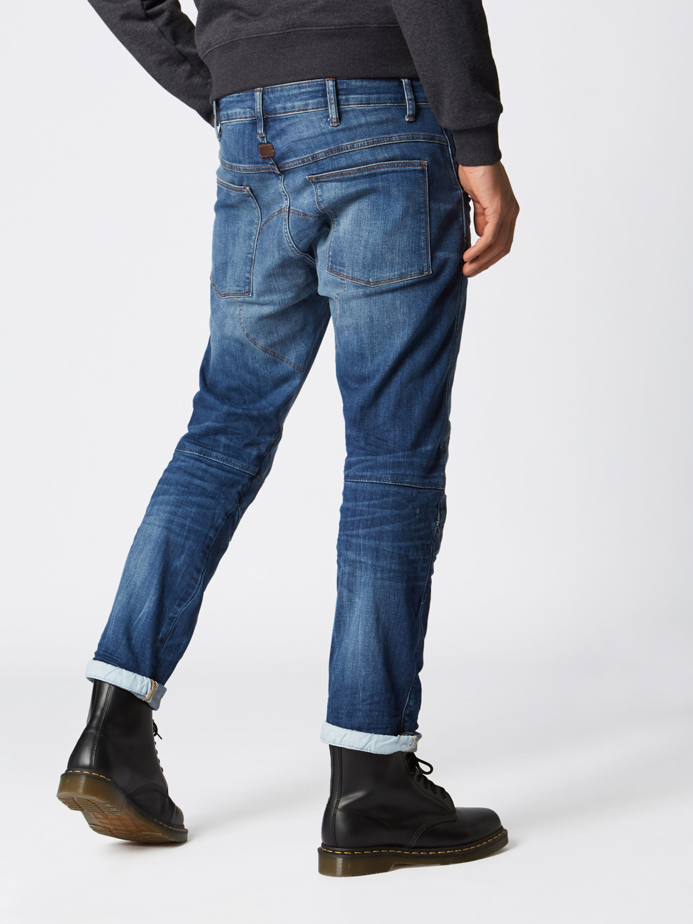Raw Jean Bleu G star En '5620elwood3d Straight' Denim tsrdhQC