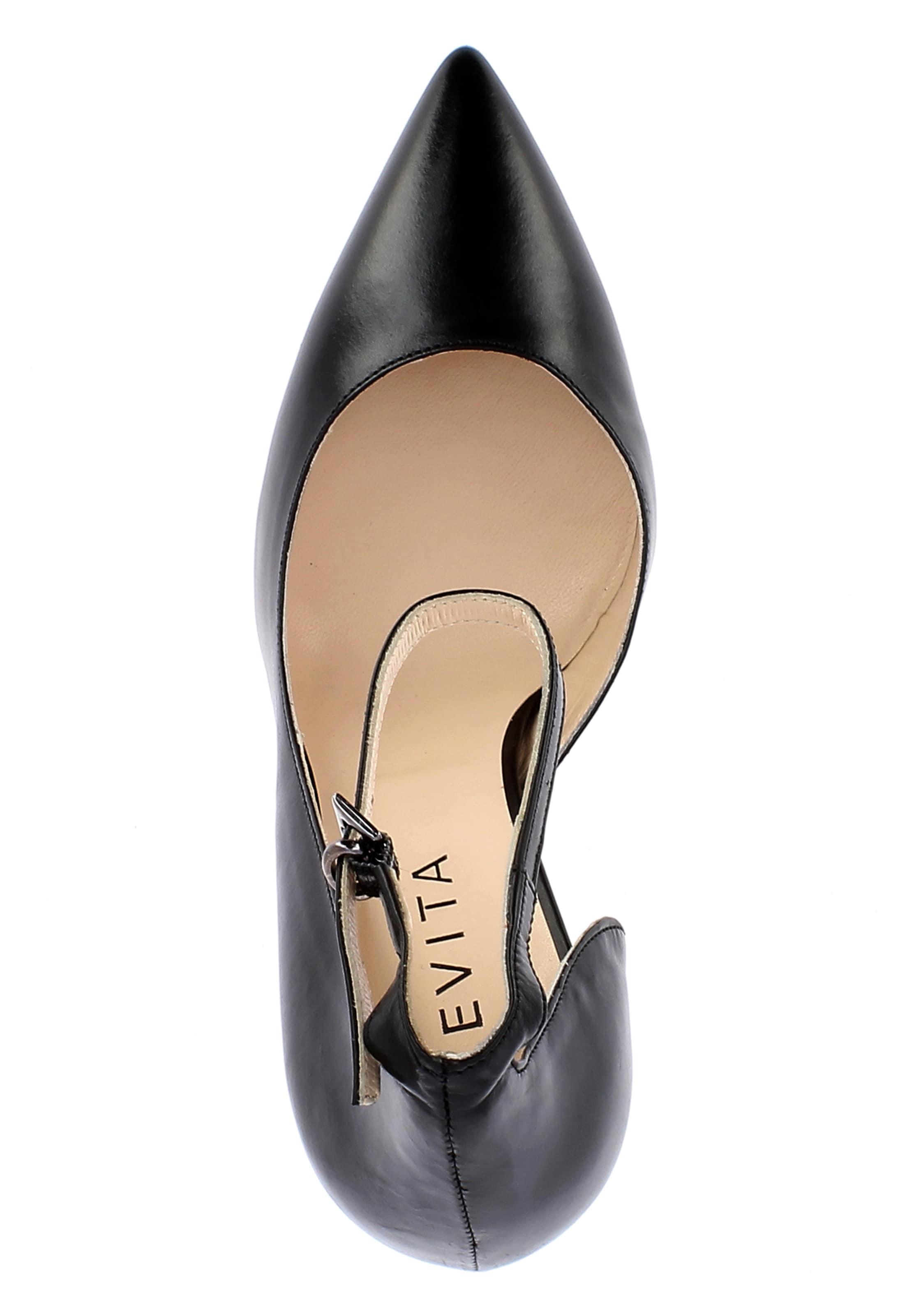 Evita En Escarpins En Evita Noir Escarpins 54RAjL