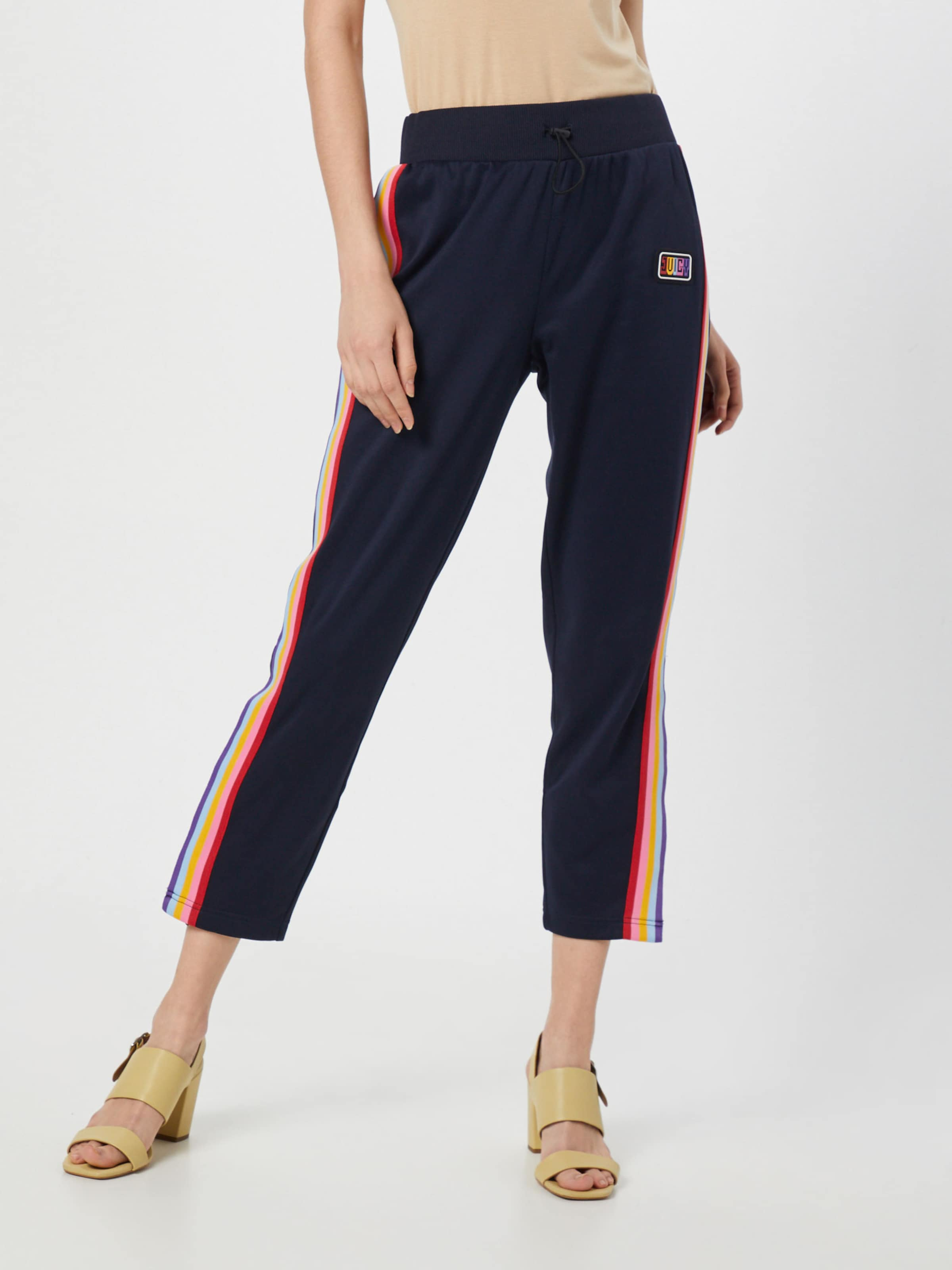 En Side Track Couleurs Couture 'rainbow Juicy Bleu Tricot By De Pantalon Pant' MarineMélange Striped W2IDE9YH