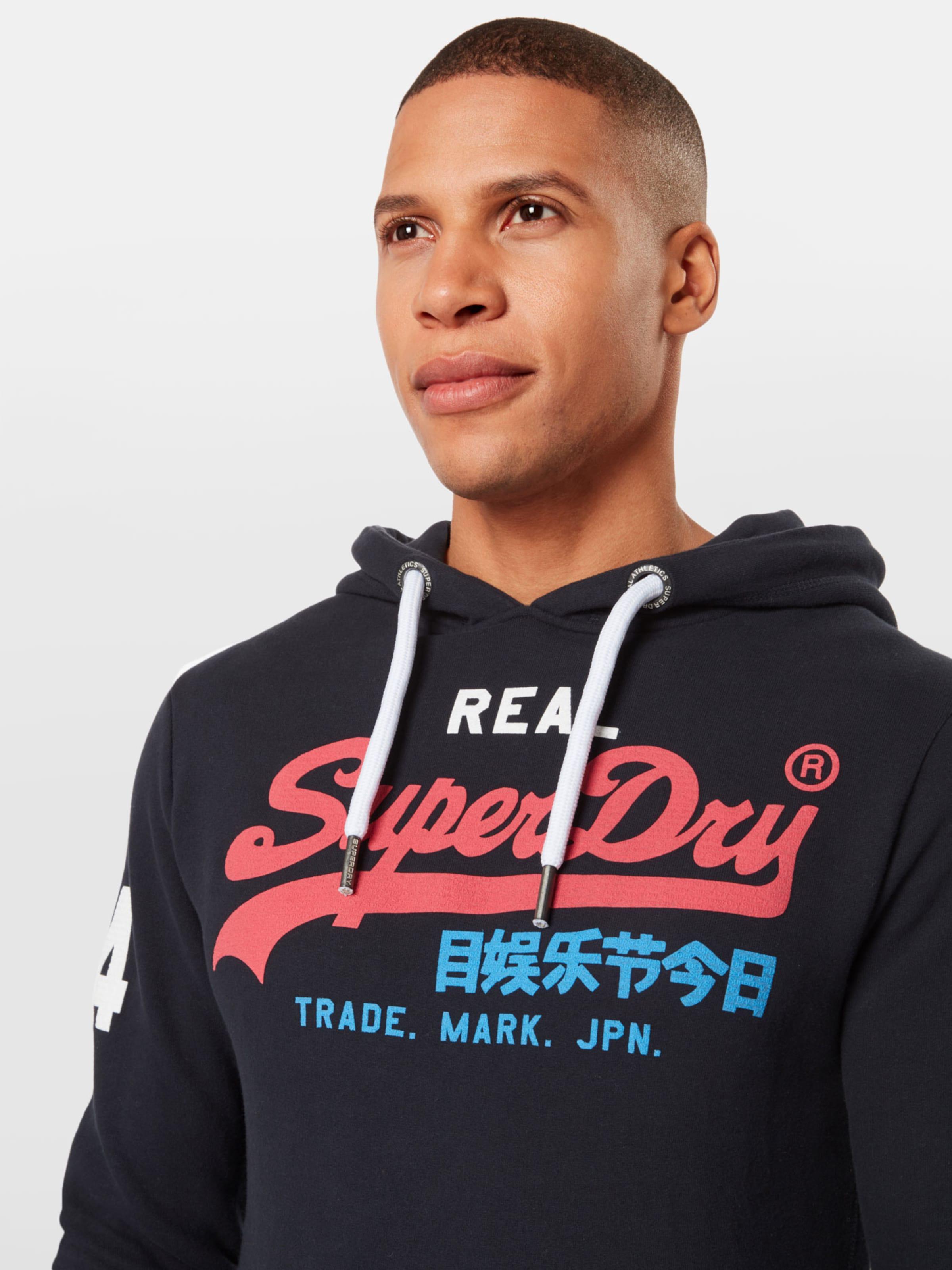 shirt Superdry Bleu Sweat En Logo' 'vintage MarineRouge dexQBoWrC
