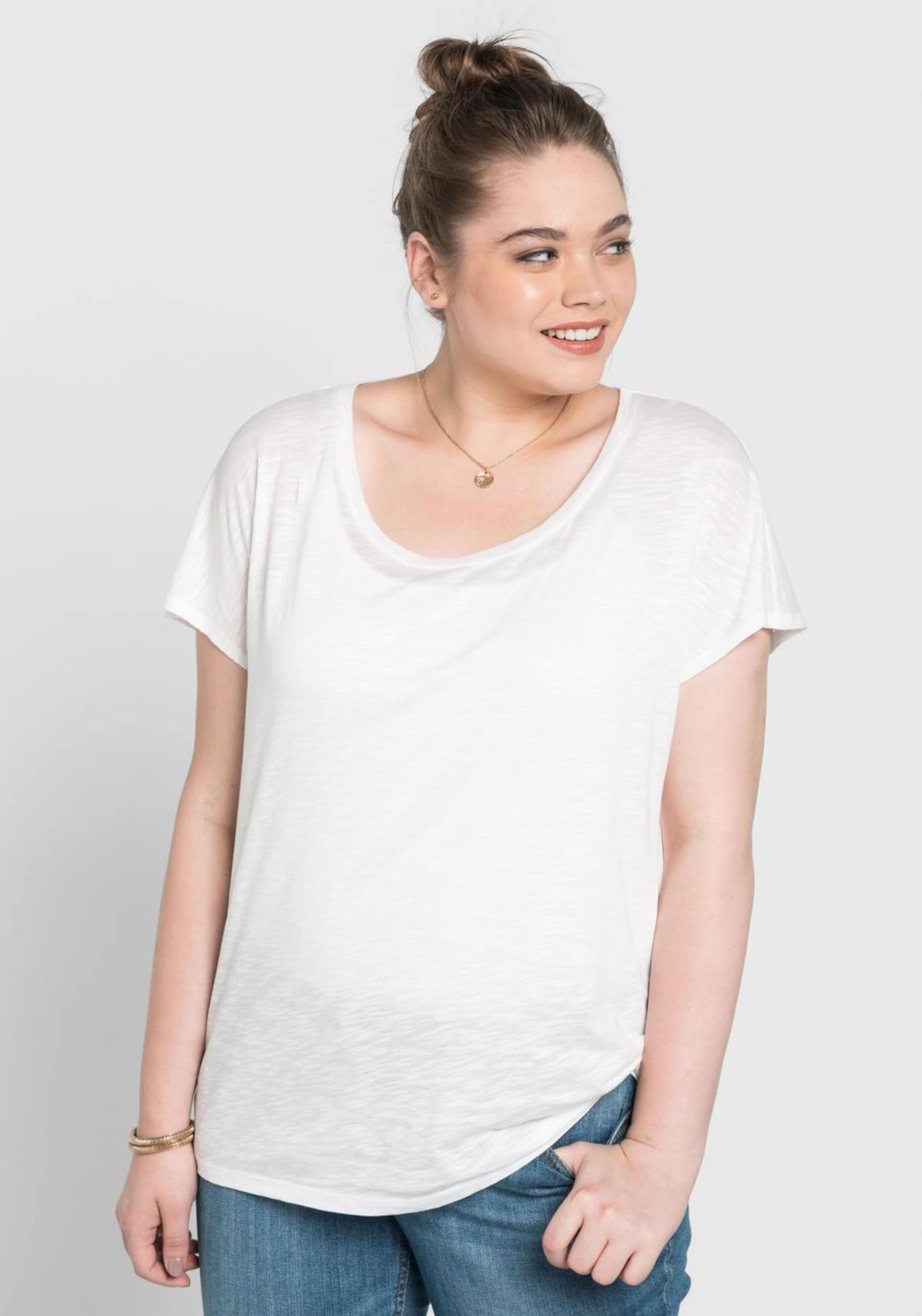 Casual Basic Sheego In Weiß shirt Oversize 13lcTJFK
