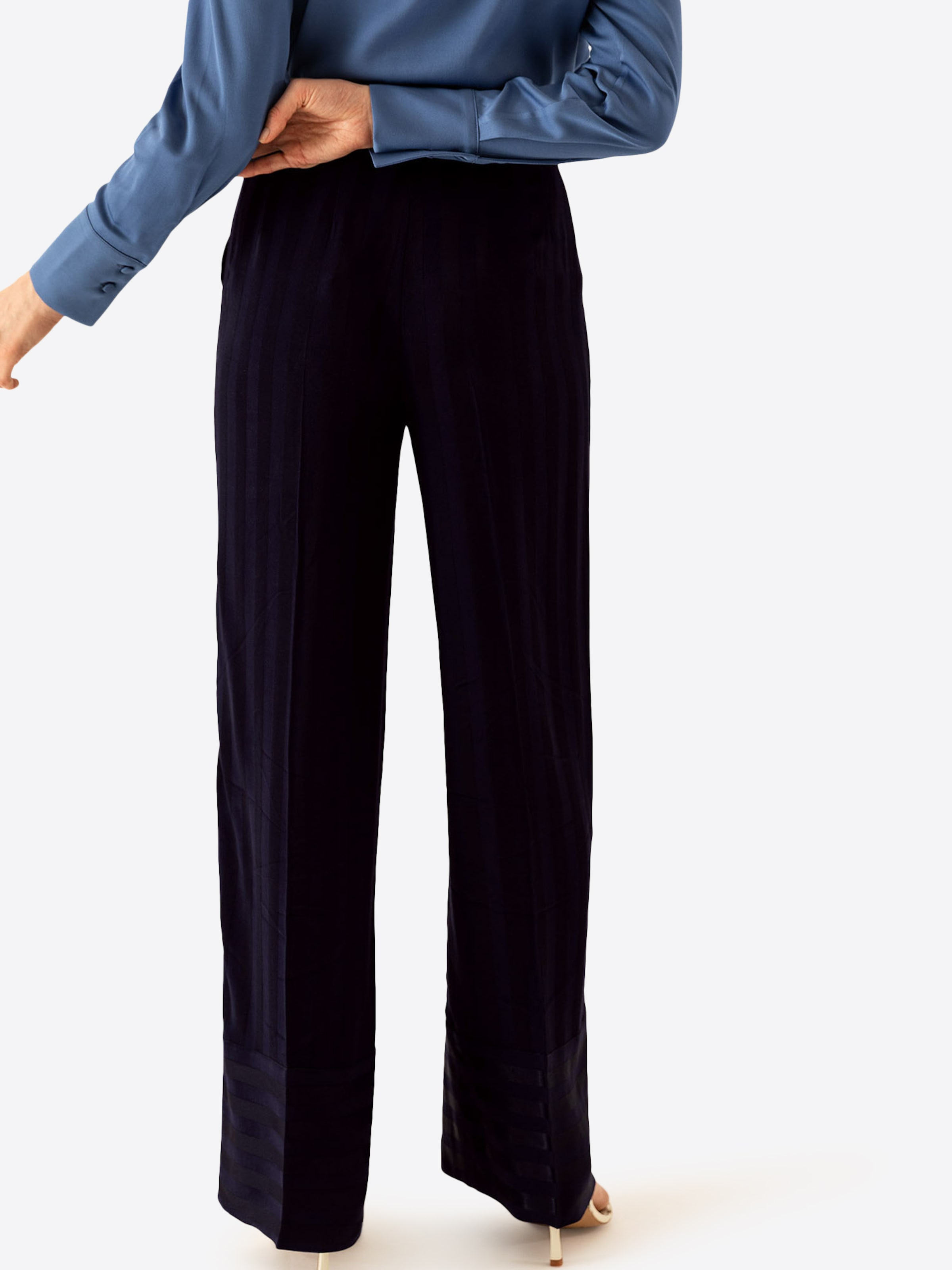 À Oak Pantalon Bleu Plis Ivyamp; Marine En WED9H2I
