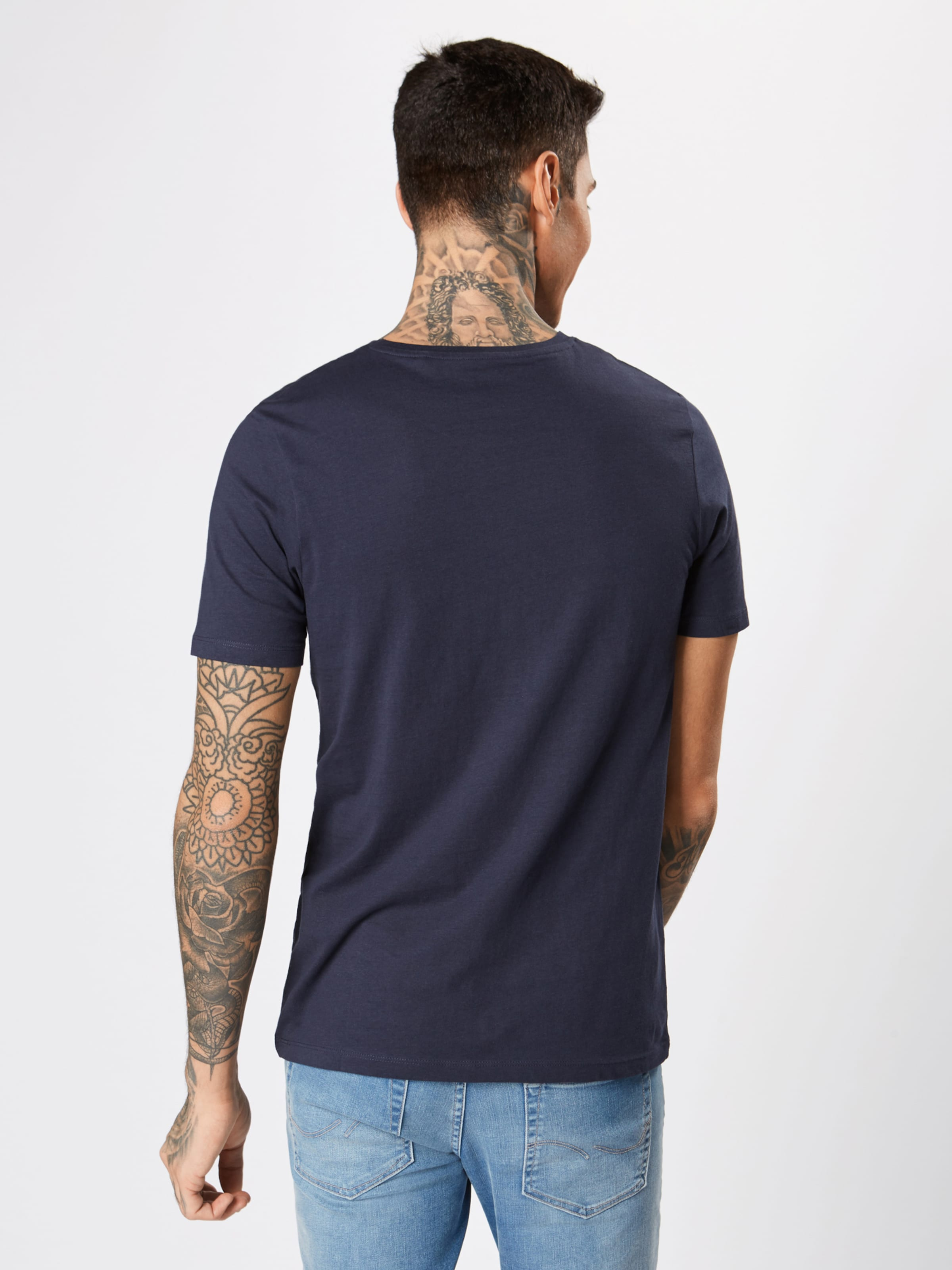 Bleu T Jones Jackamp; En shirt MarineBlanc qSUpzMVG