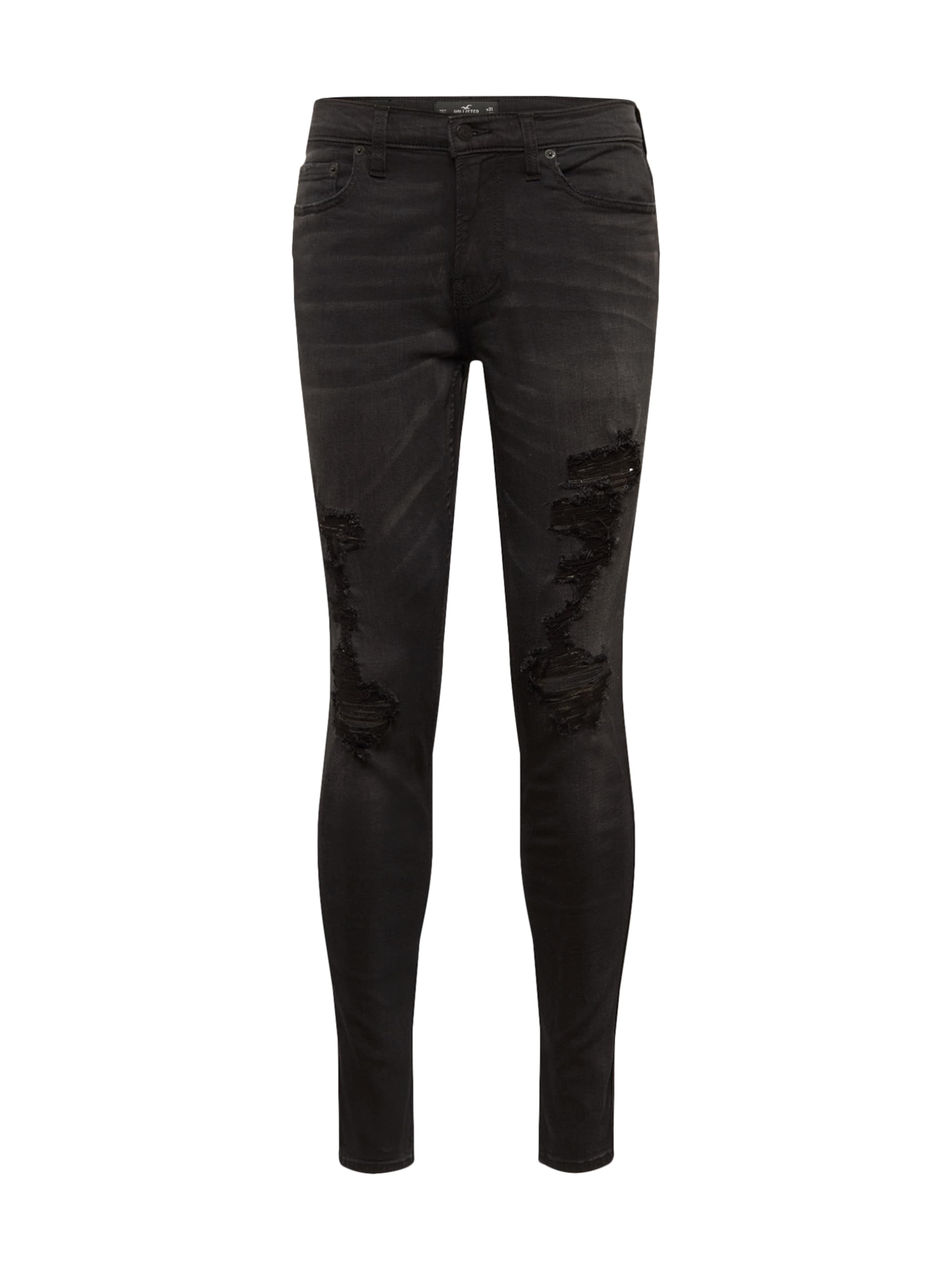 Skny' Shredded Spr Noir 'washed Hollister En Denim Black Jean 34jL5RA