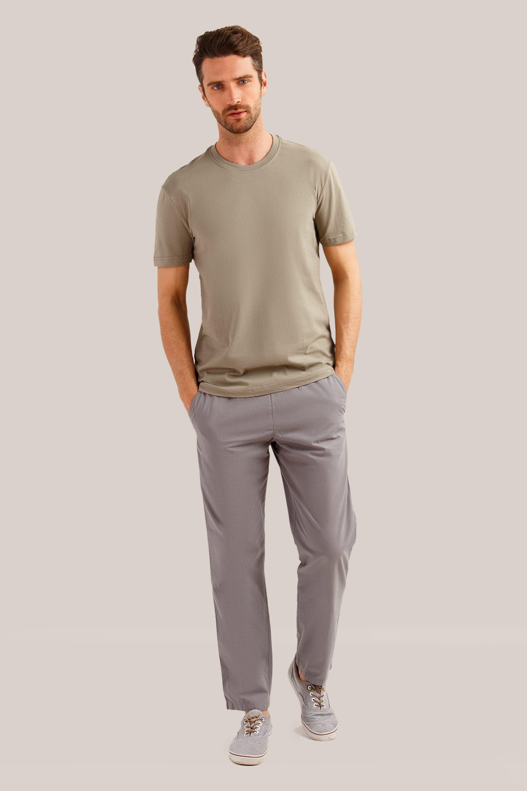 Finn shirt In Klassischem Basic Design Flare Braun Fl1JKcT