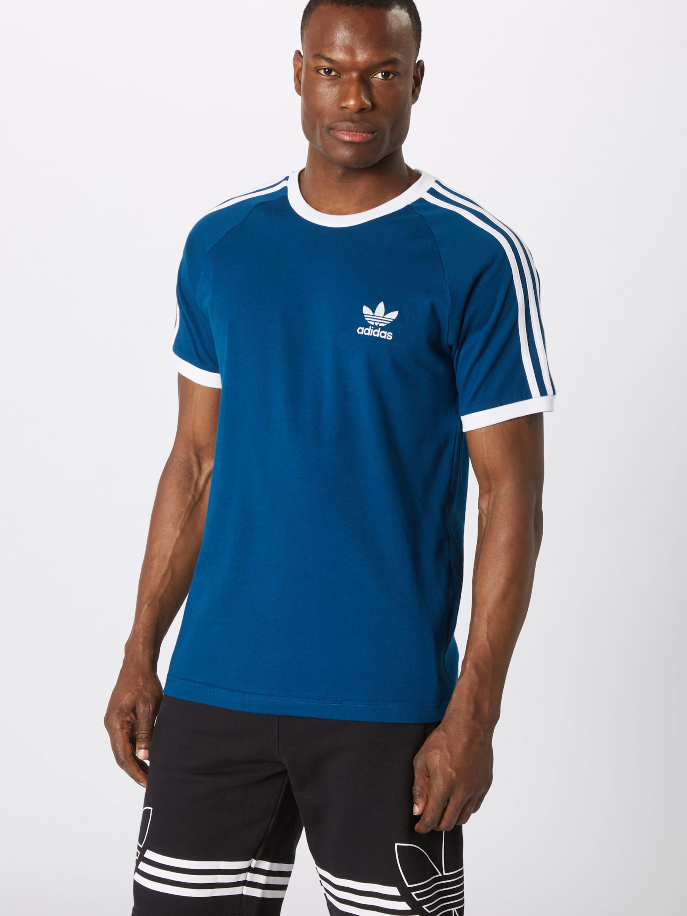 shirt T Originals '3 En stripes' Adidas BleuBlanc nN0k8wOPX