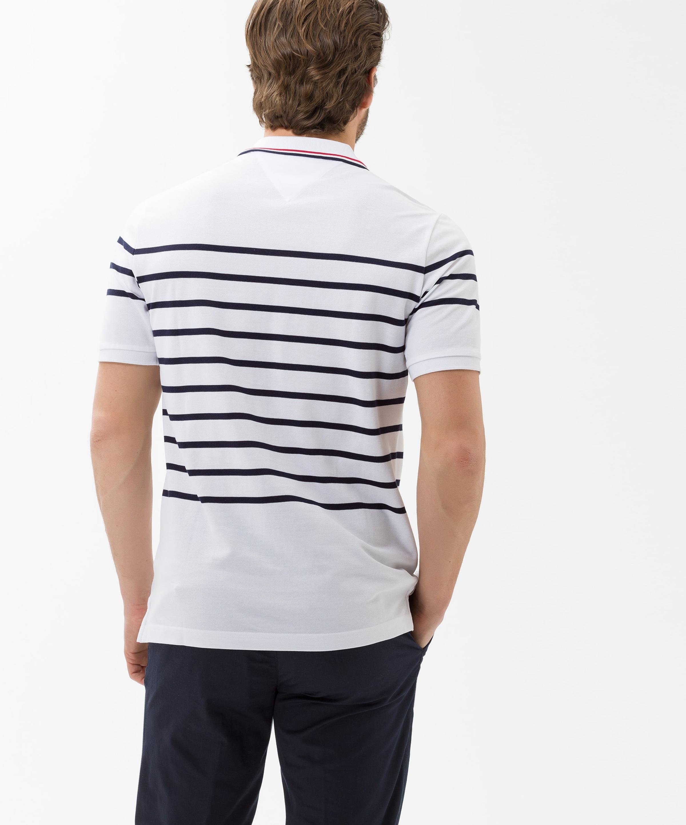 Poloshirt DunkelblauRot Weiß Brax 'paco' In 5L3jc4ARq