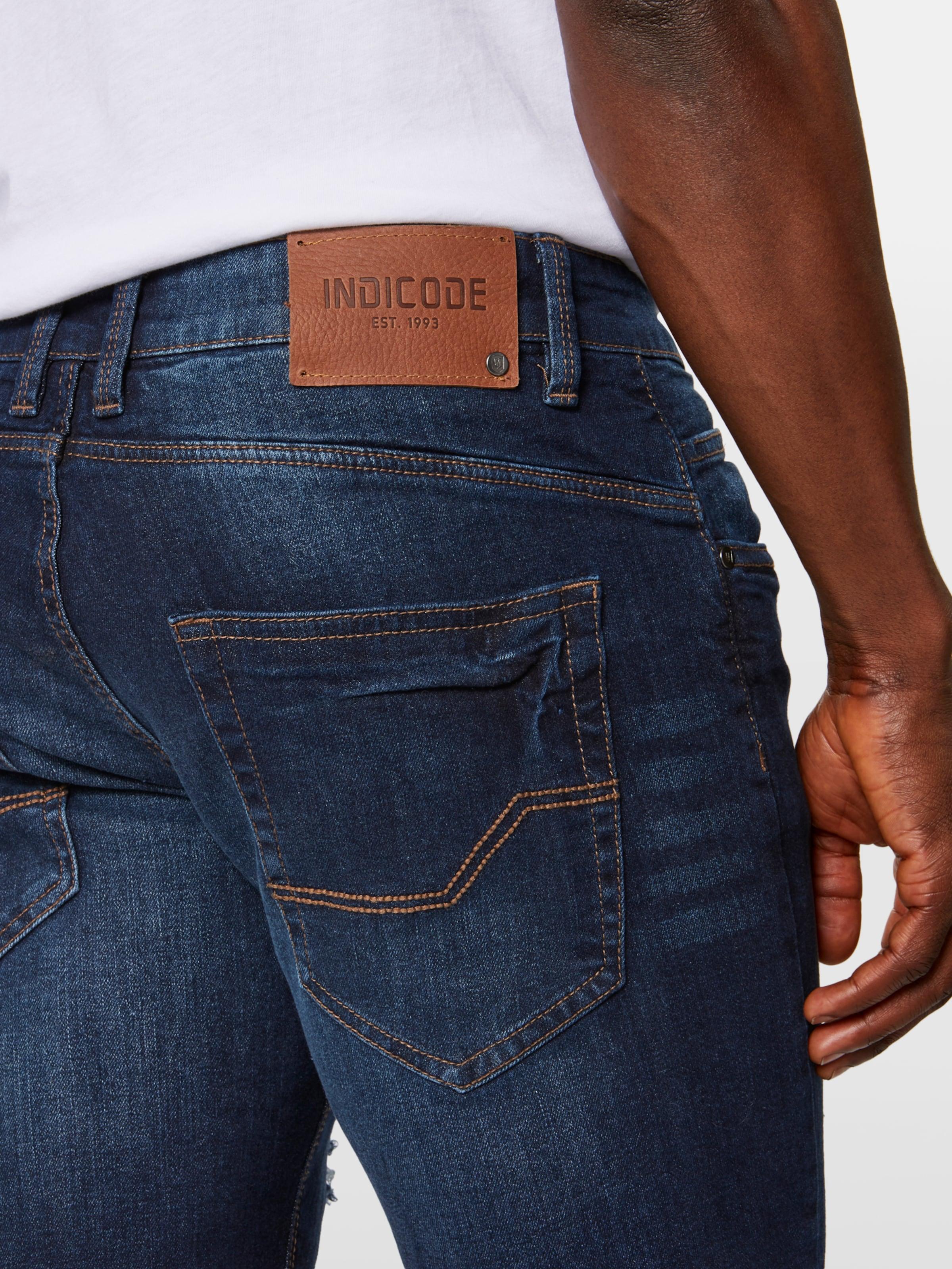 En Bleu Denim Jean Indicode 'kaden Holes' Jeans OPlwkiTuXZ
