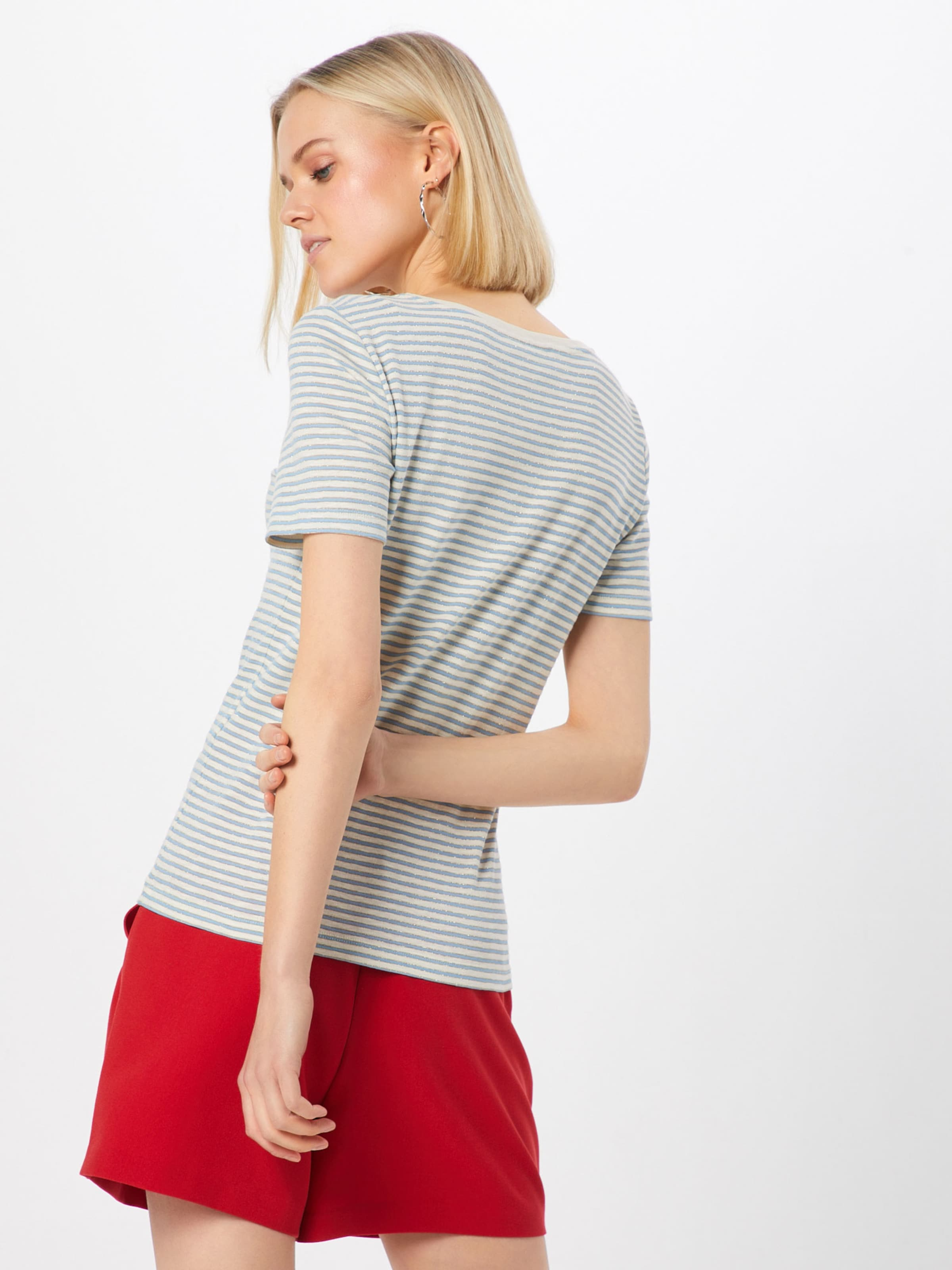 Rouge shirt O En neck' Mosh Stripe T Mos CrèmeBleu 'kenia Clair TKJFl1c