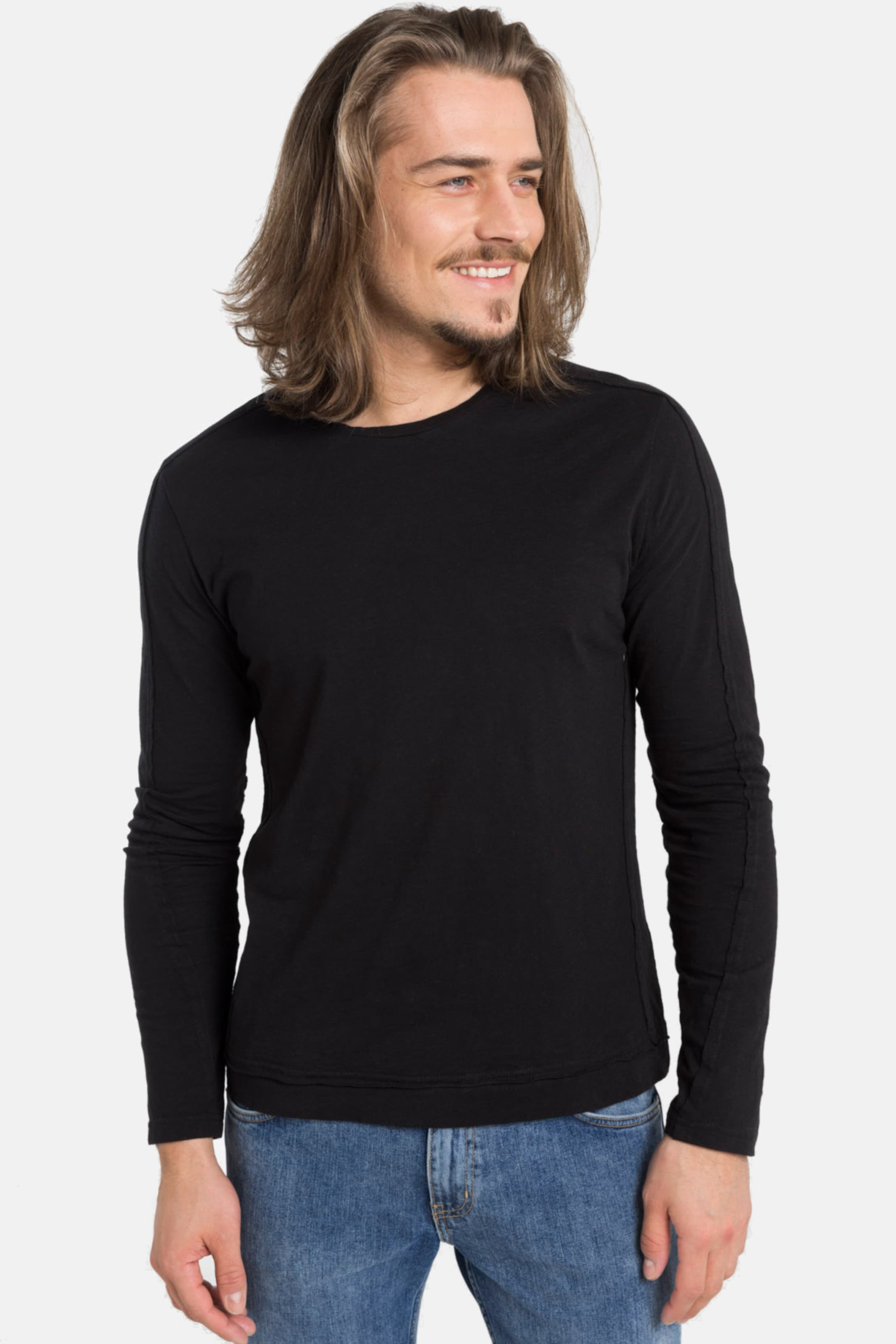 Life In Shirts 'taranto' Longsleeve For Schwarz F1lcKTJ