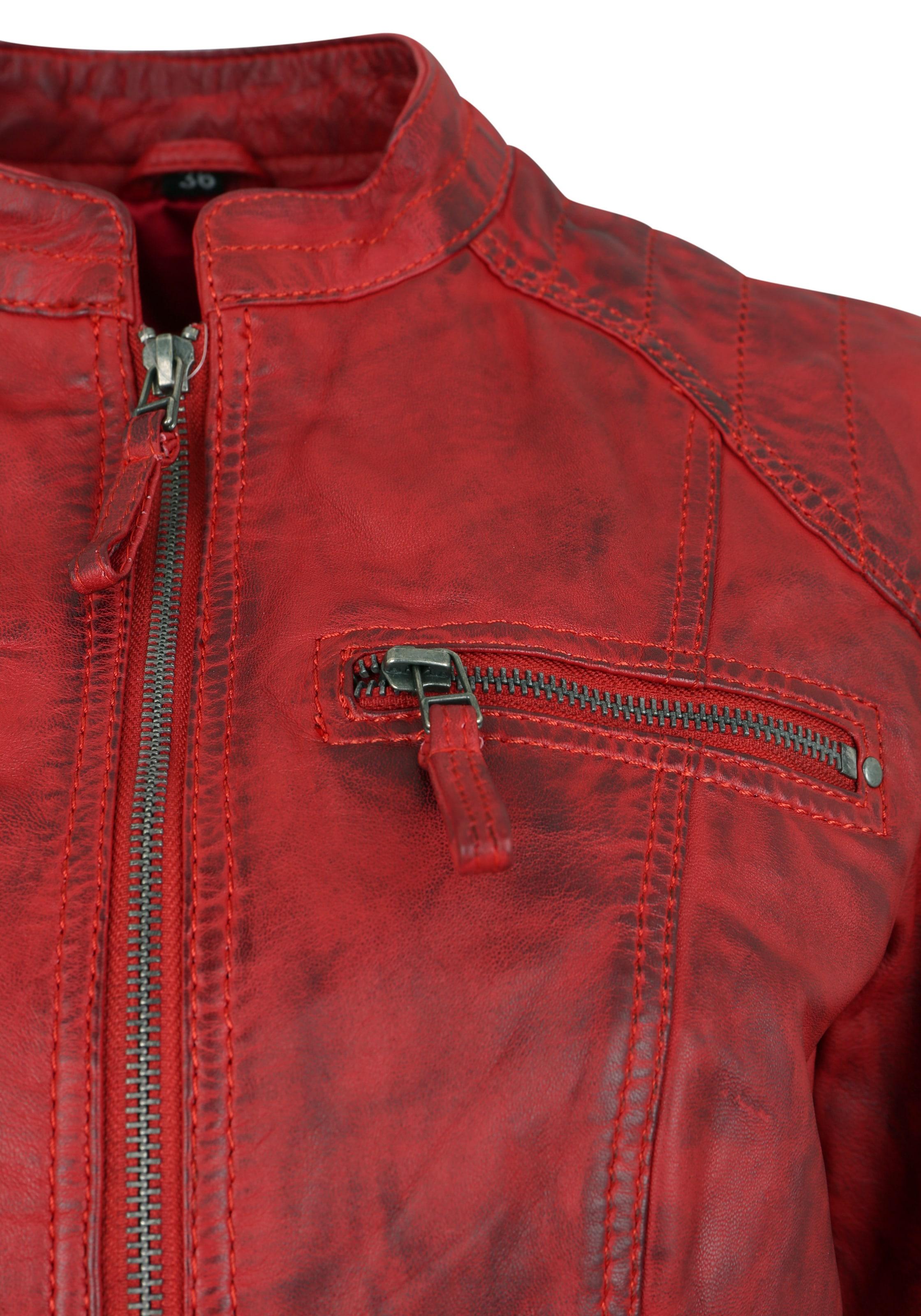 7eleven 'toulouse' 7eleven Lederjacke In In Rot 'toulouse' Rot Lederjacke WEeHIYD29
